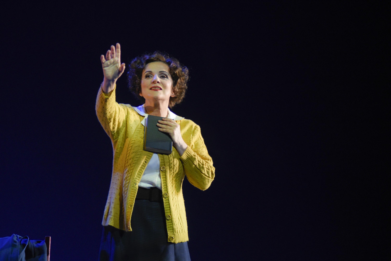 La comédienne Marie-Thérèse Fortin.