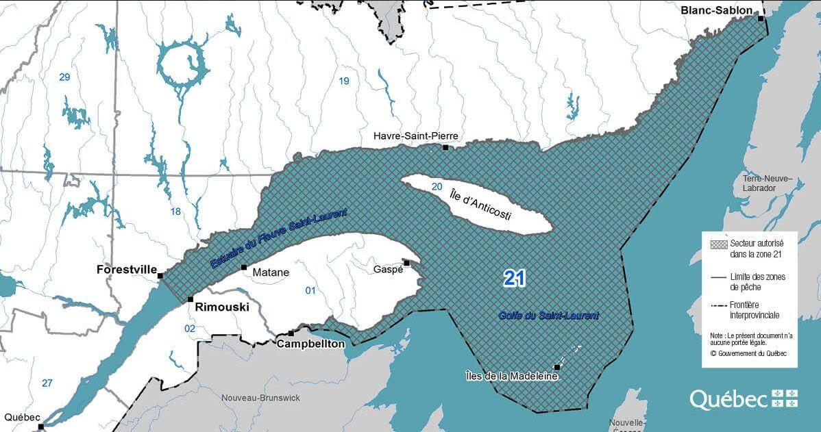 La zone de pêche 21