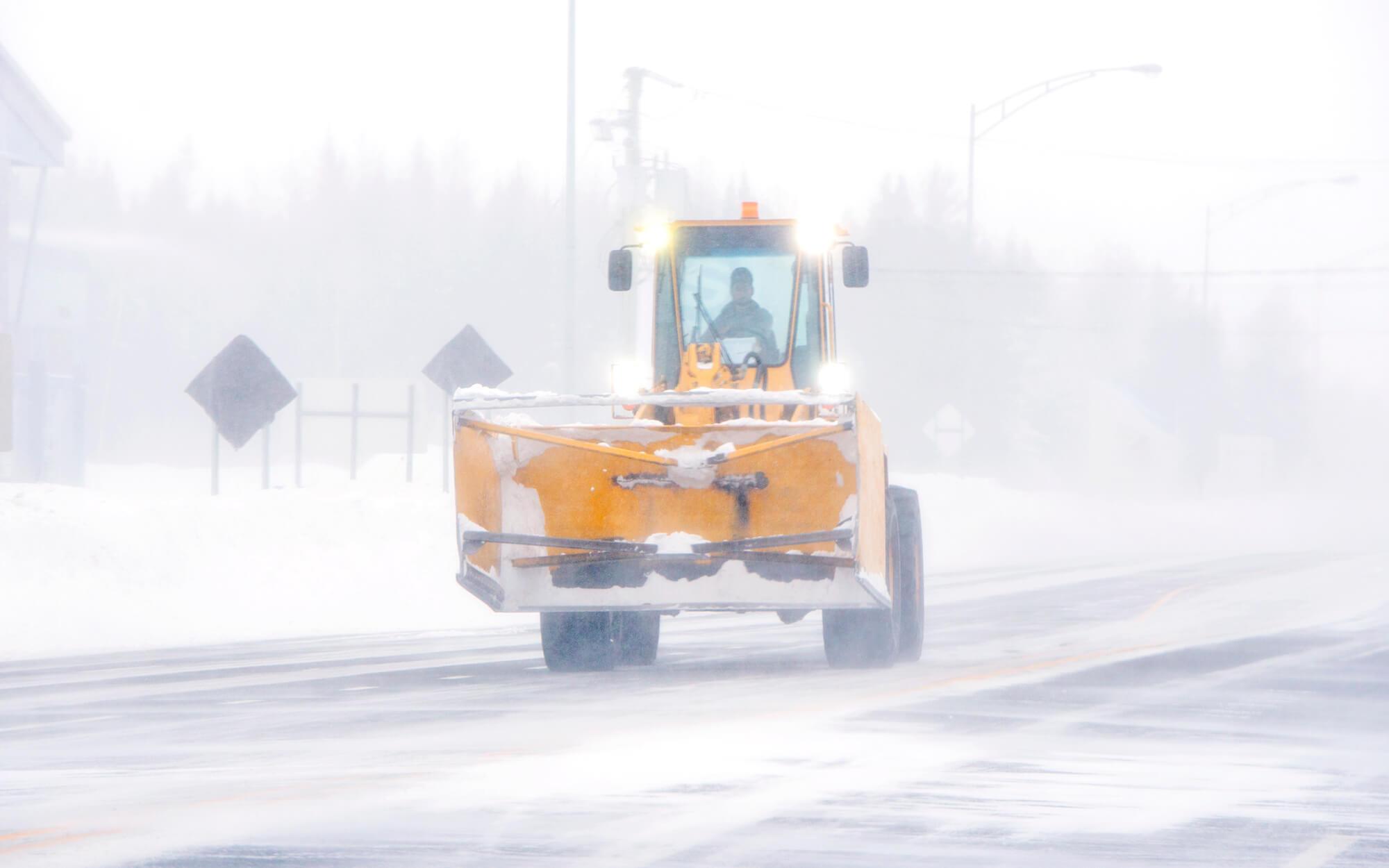 Tempête neige déneigeuse poudrerie Matane
