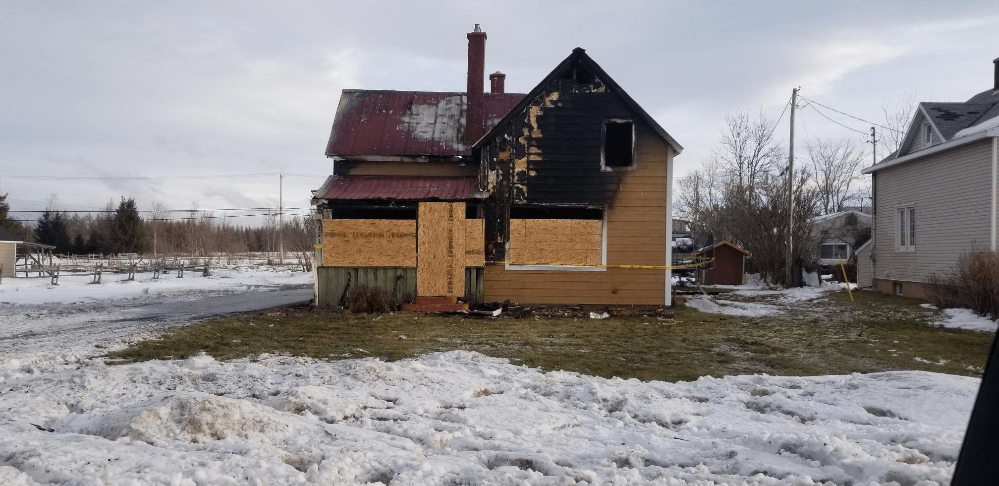 Maison incendie Bonaventure