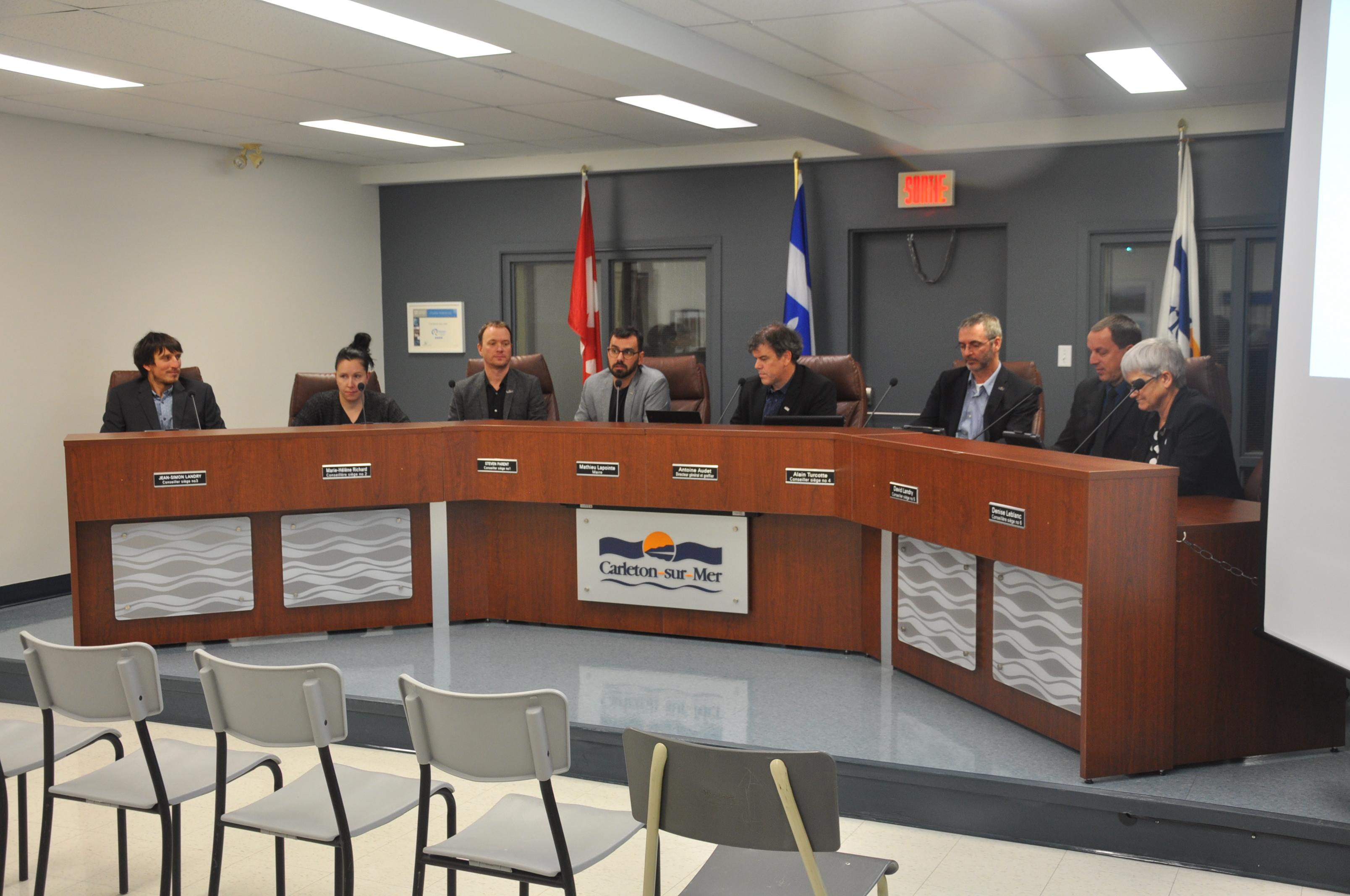 conseil municipal Carleton-sur-Mer