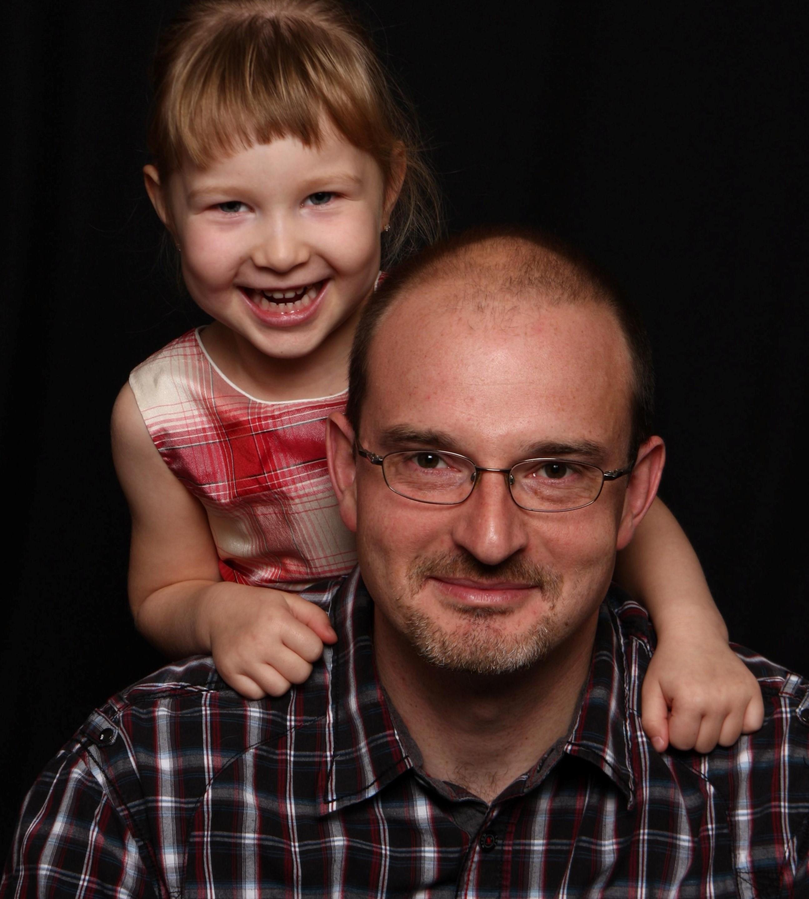 Frédéric Fortin et sa fille.