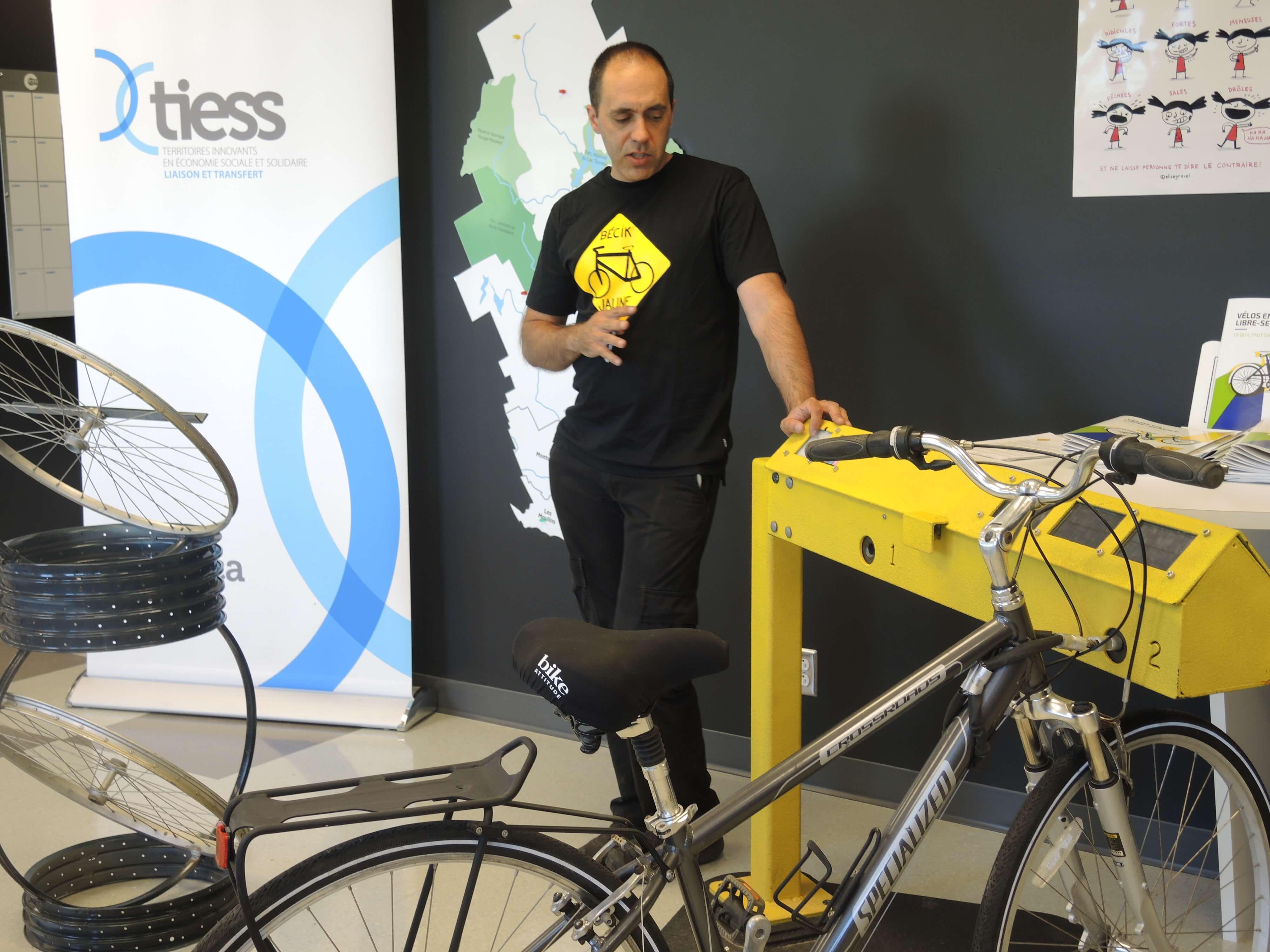 Un système de vélos libre-service signé Bécik Jaune