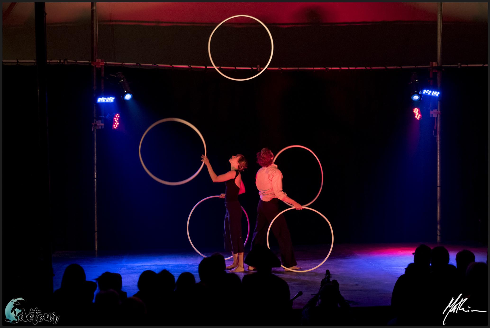 Le Festival des arts du cirque Le Détour lors de sa première présentation.