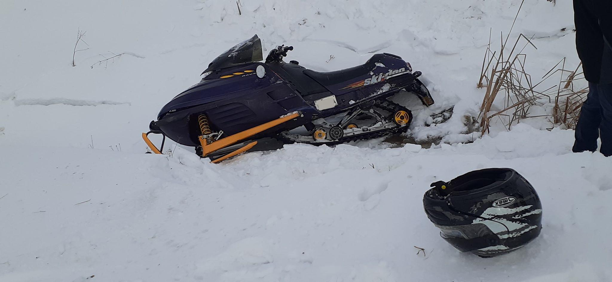Accident motoneige