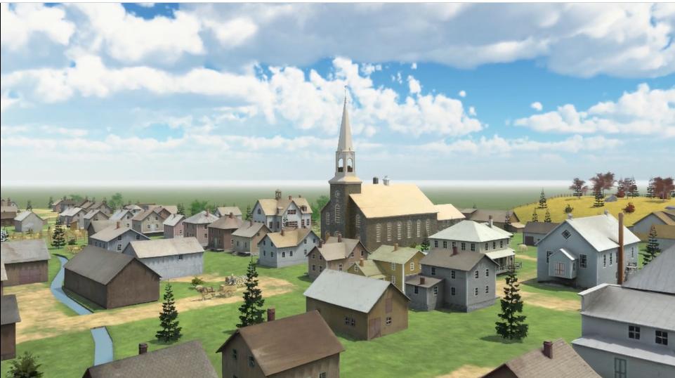 Ce village miniature composée de 135 bâtiments à l'échelle a été fabriqué par les frères Claude, Guy et Yvon Brisson dans le cadre du centenaire de Sainte-Blandine, en 1981.