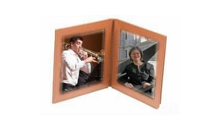 Le tromboniste Alexis Lavoie-Lebel et l'organiste-claveciniste Josée April.