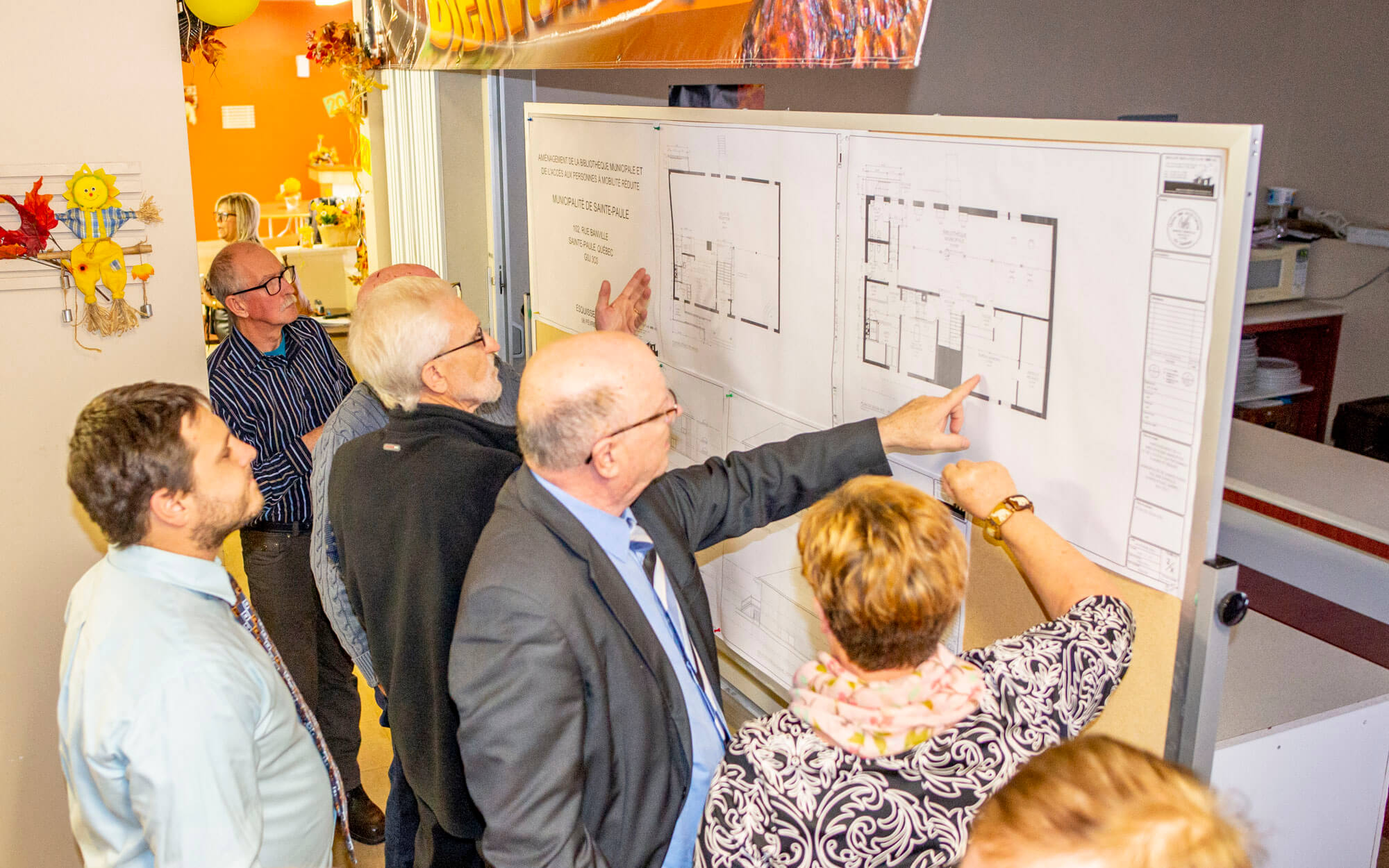 Projet travaux centre communautaire Sainte-Paule édifice municipal bibliothèque