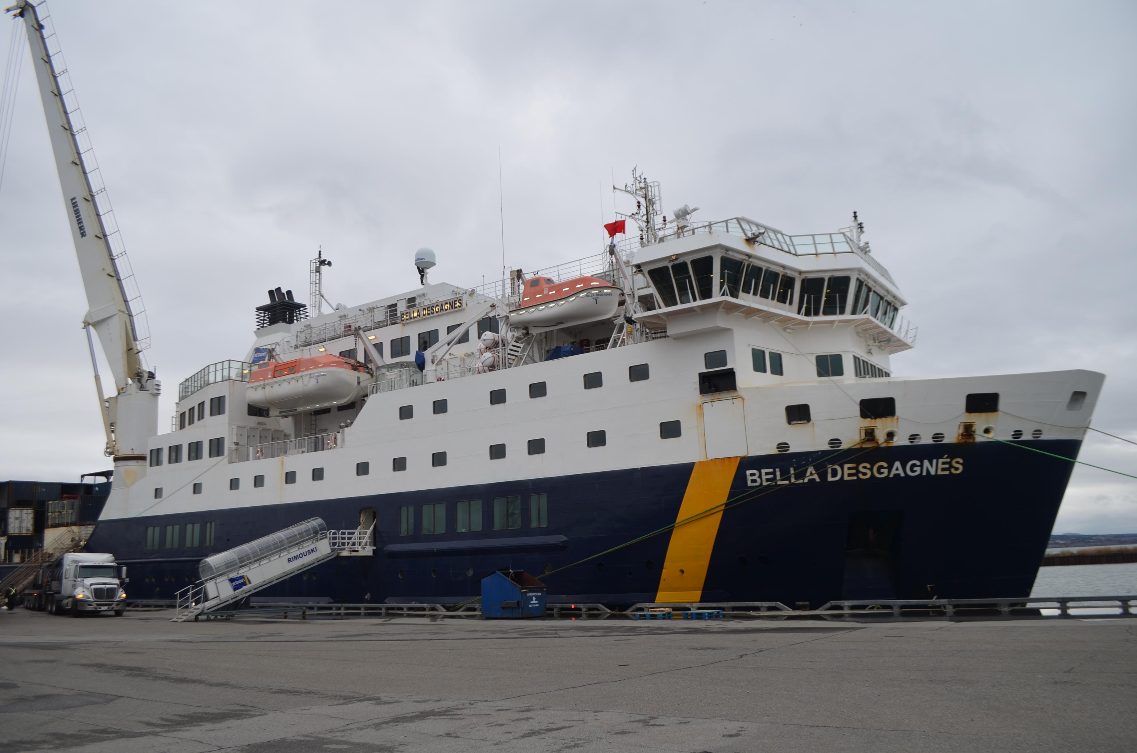 Le Bella Desgagnés accosté au Quai de Rimouski-Est