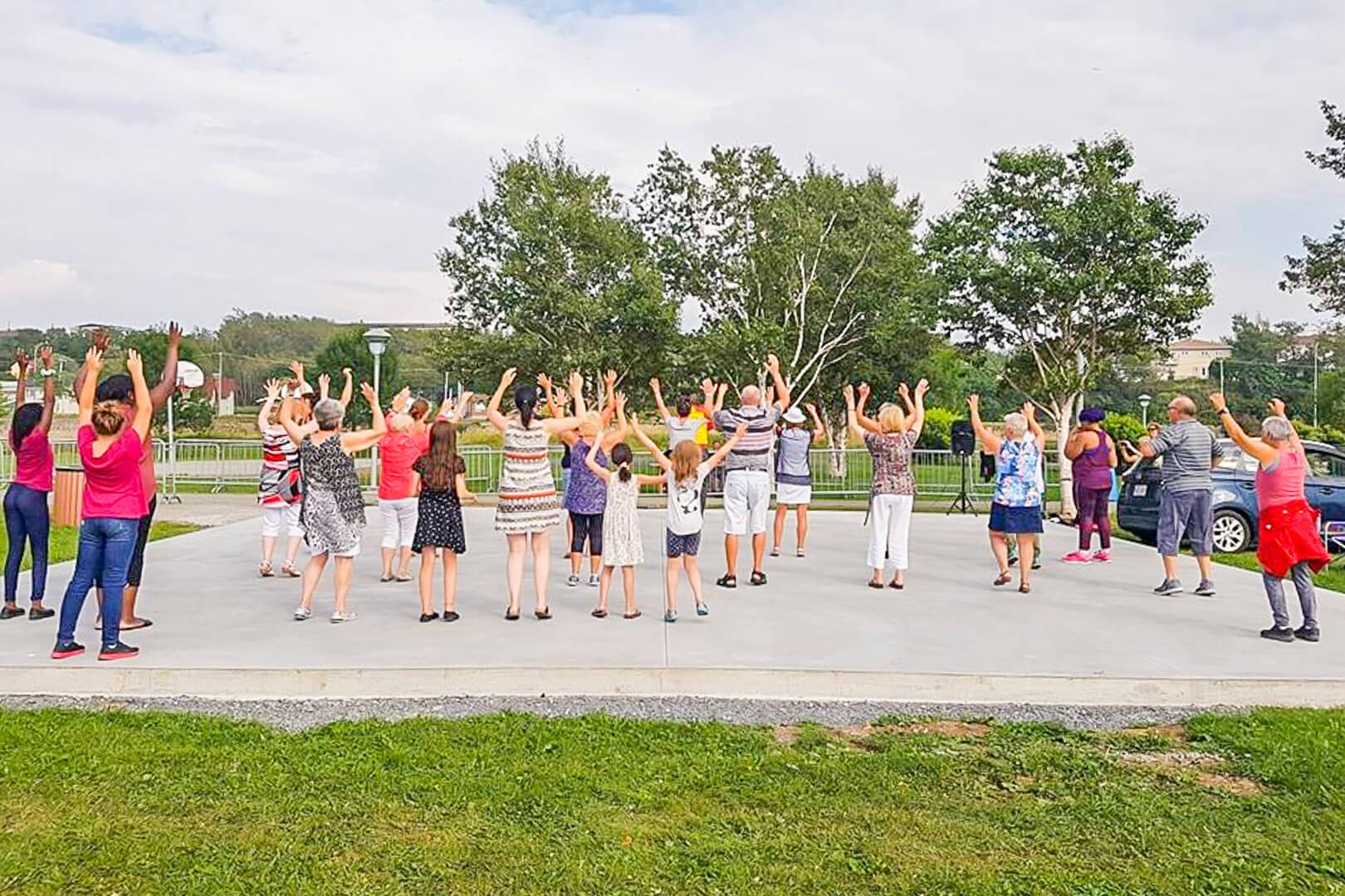 Berceau de nos ancêtres danse sportive Matane parc des Îles