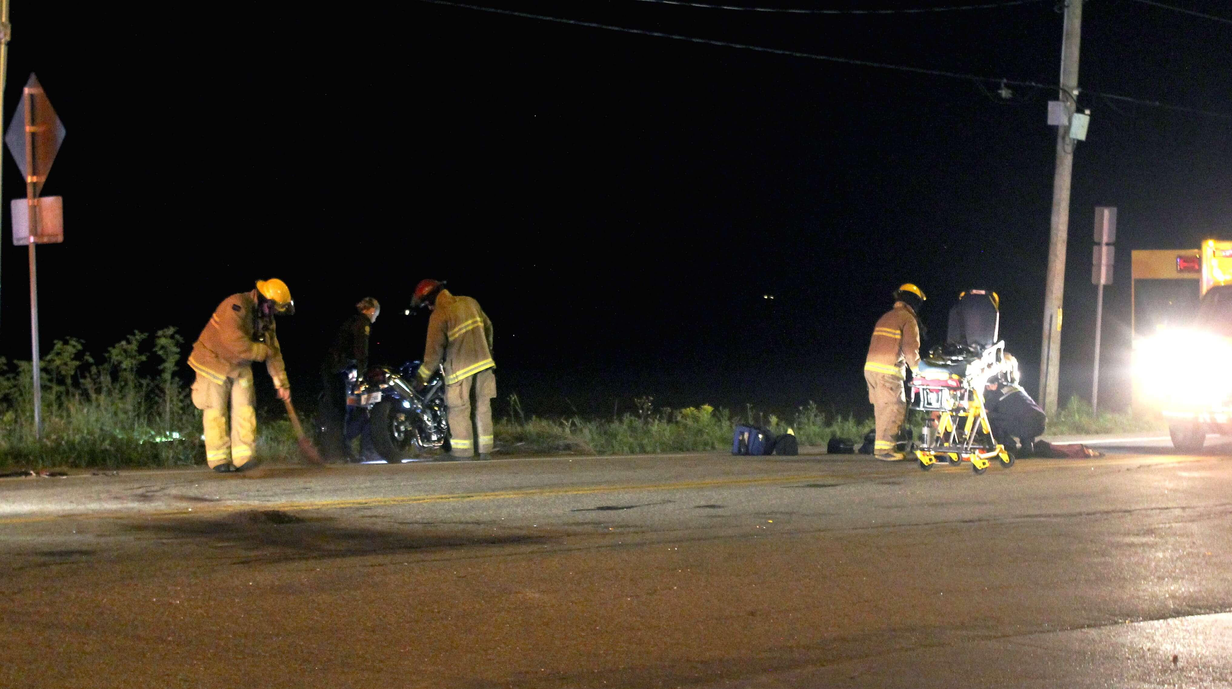 Un conducteur s'est blessé en conduisant sa moto, le 2 août 2018, à Sainte-Mélanie.