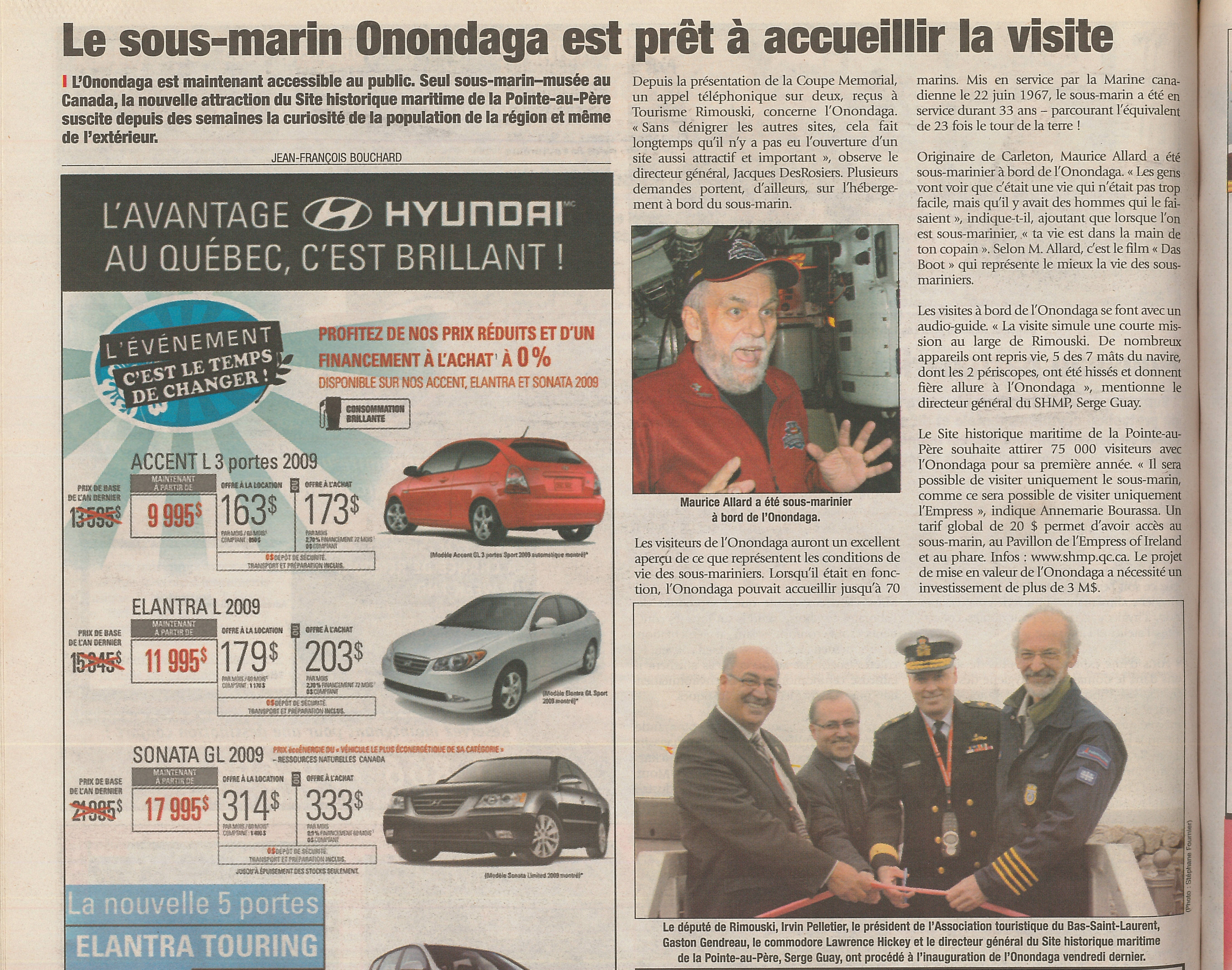 Un article trouvé dans les archives du Journal L'Avantage, datant de l'édition du 17 juin 2009.