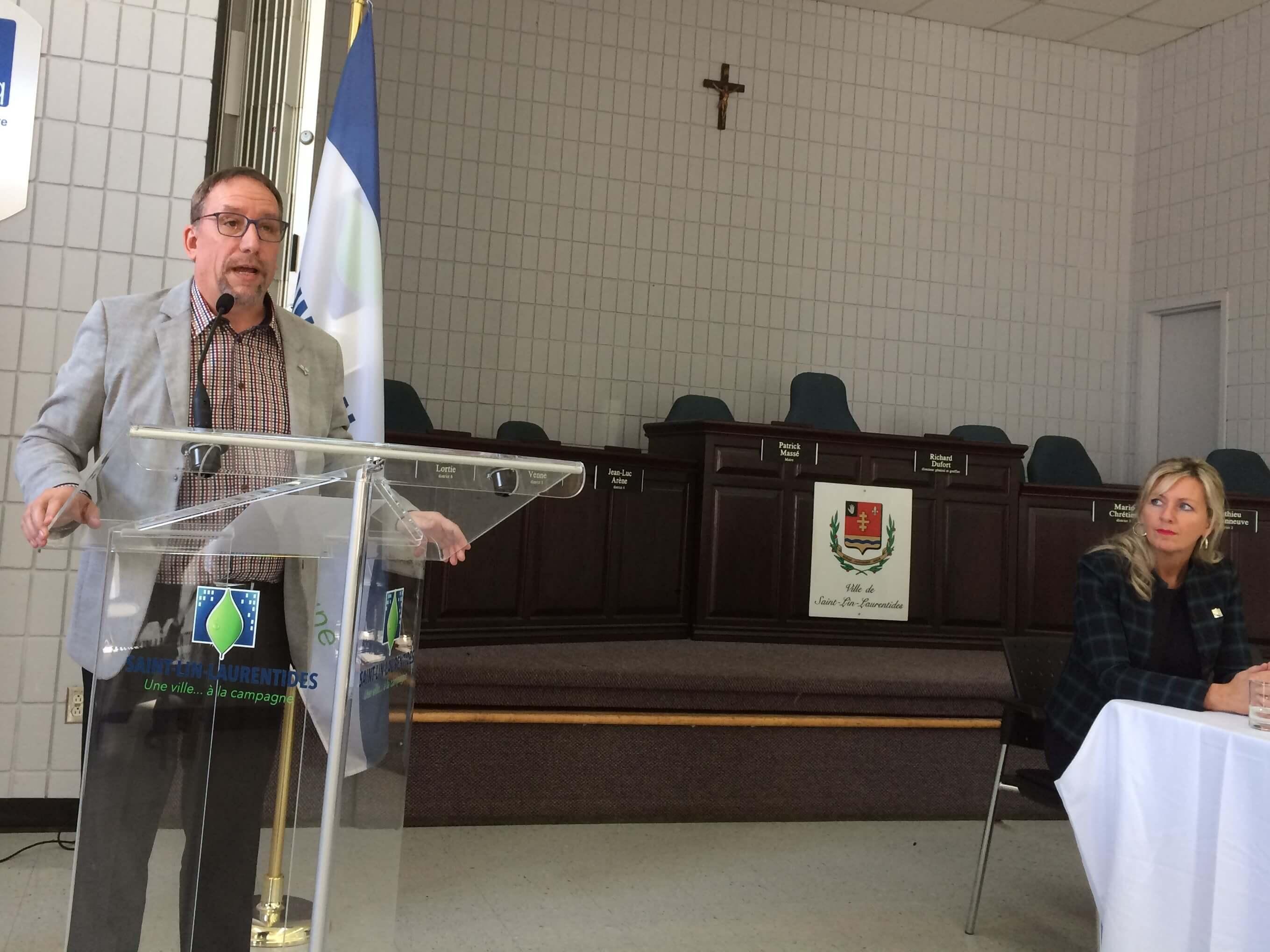 Maire de Saint-Lin-Laurentides Patrick Massé