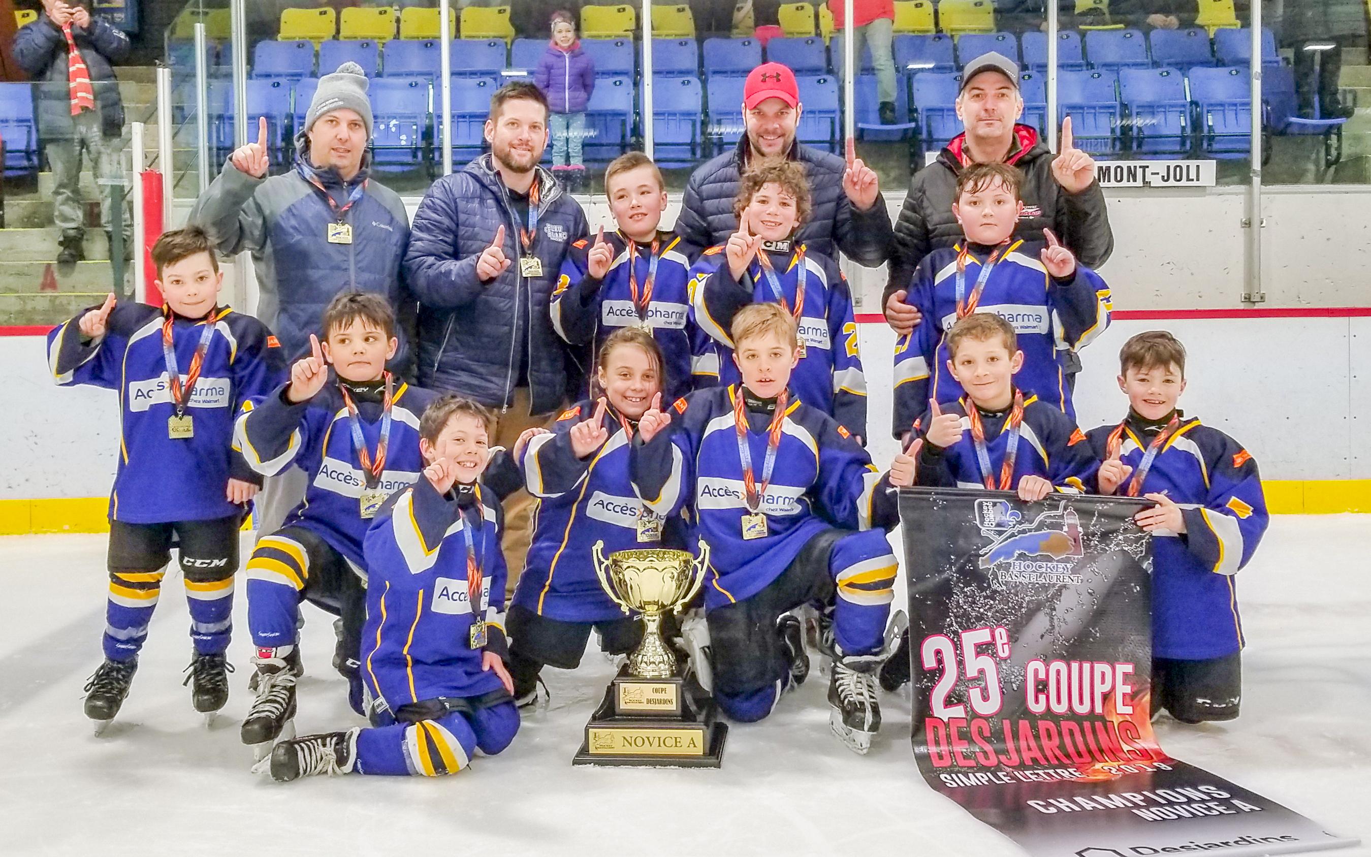 Coupe Desjardins hockey simple lettre Matane Accès pharma