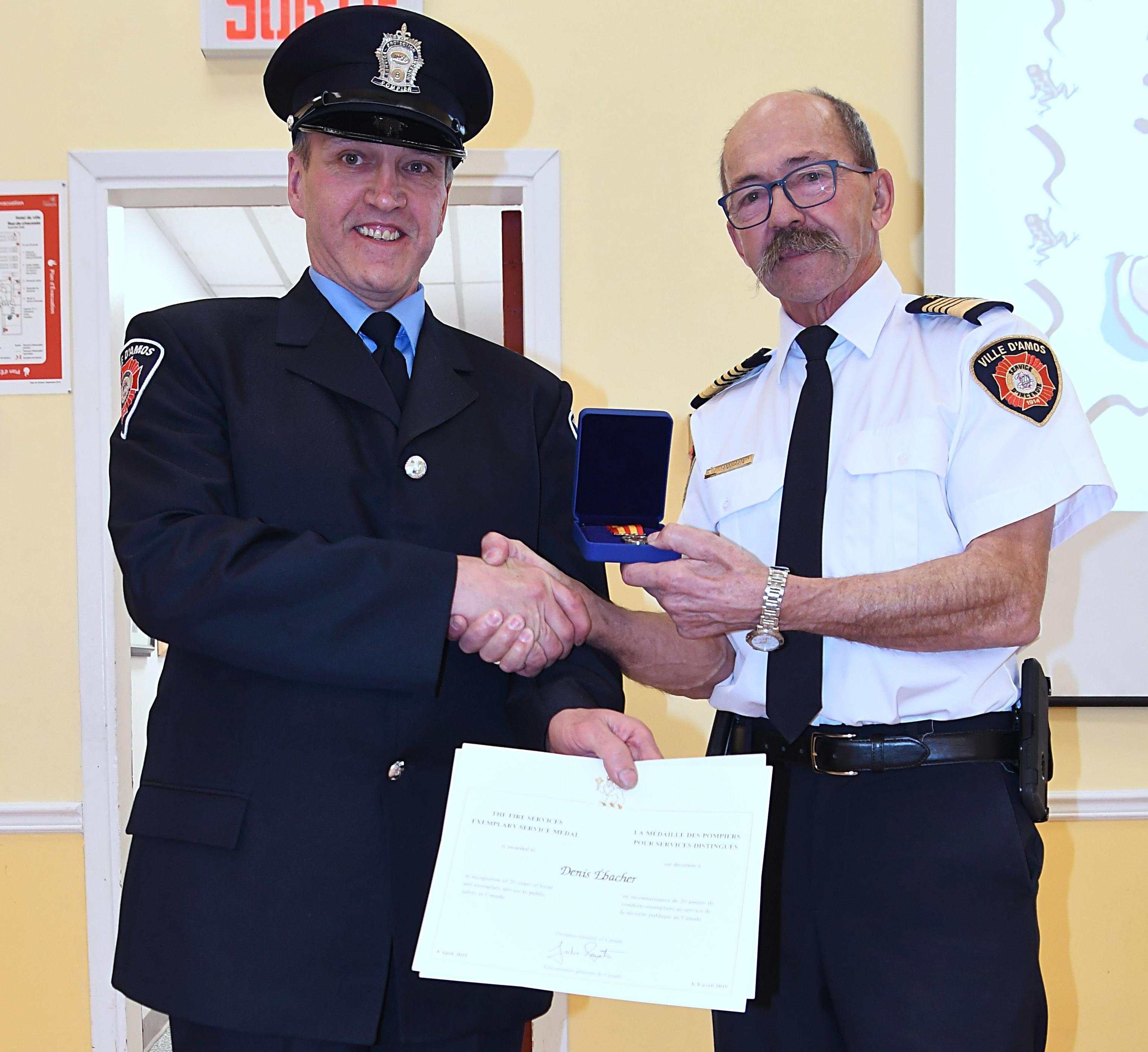 Denis Ebacher medaille pompier