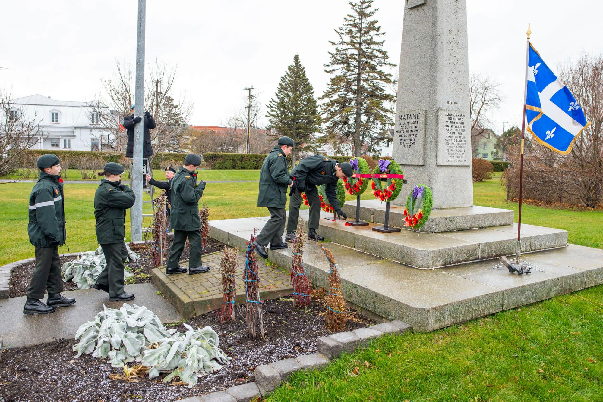 Jour du Souvenir Matane 2018 commémoration guerre coquelicot anciens combattants Légion royale canadienne