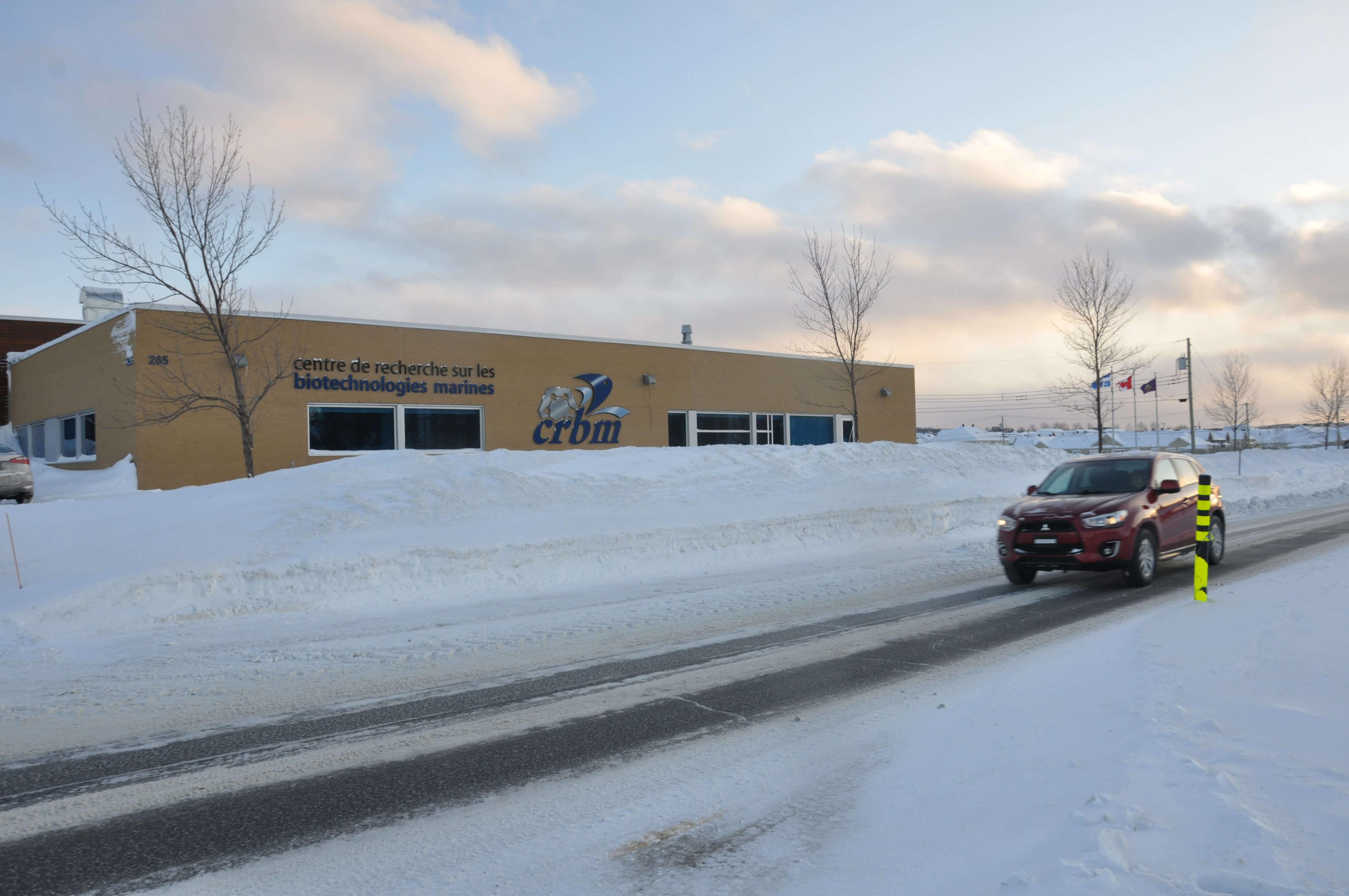 Le Centre de recherche sur les biotechnologies marine (CRBM) à Rimouski.