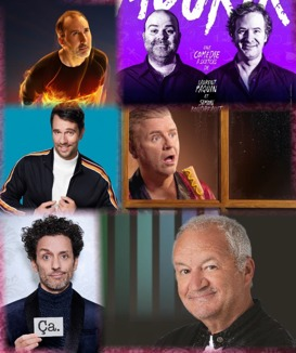 Martin Petit, Laurent Paquin et Simon Boudreault, Alexandre Barrette, Dominic Paquet, André Sauvé et Michel Barrette.