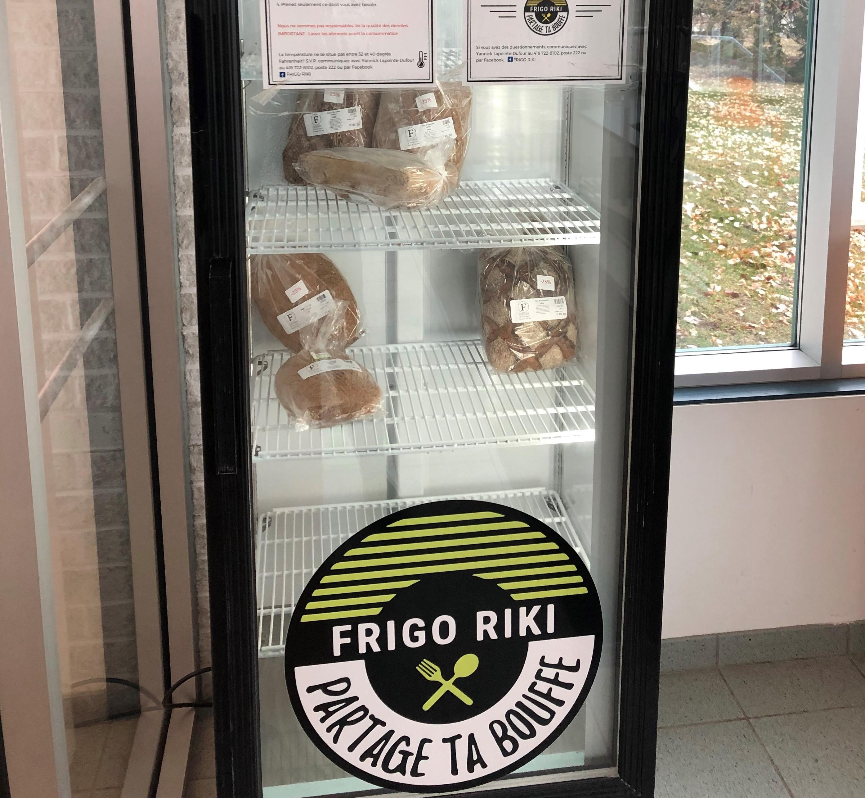 Frigo Riki vient d'être déménagé dans l'entrée de la bibliothèque Lisette-Morin pour la période hivernale.