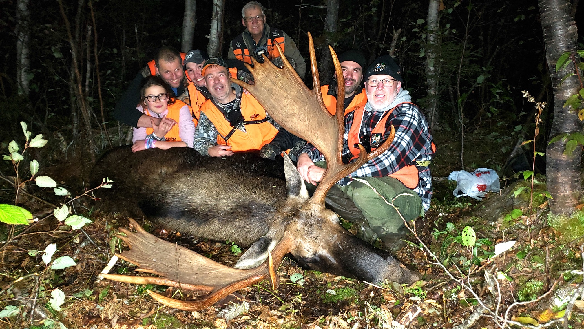 L'équipe de chasse de la TFCP a relevé le défi de faire récolter des orignaux à trois jeunes chasseurs de la relève, des séquences tournées dans la péninsule gaspésienne.