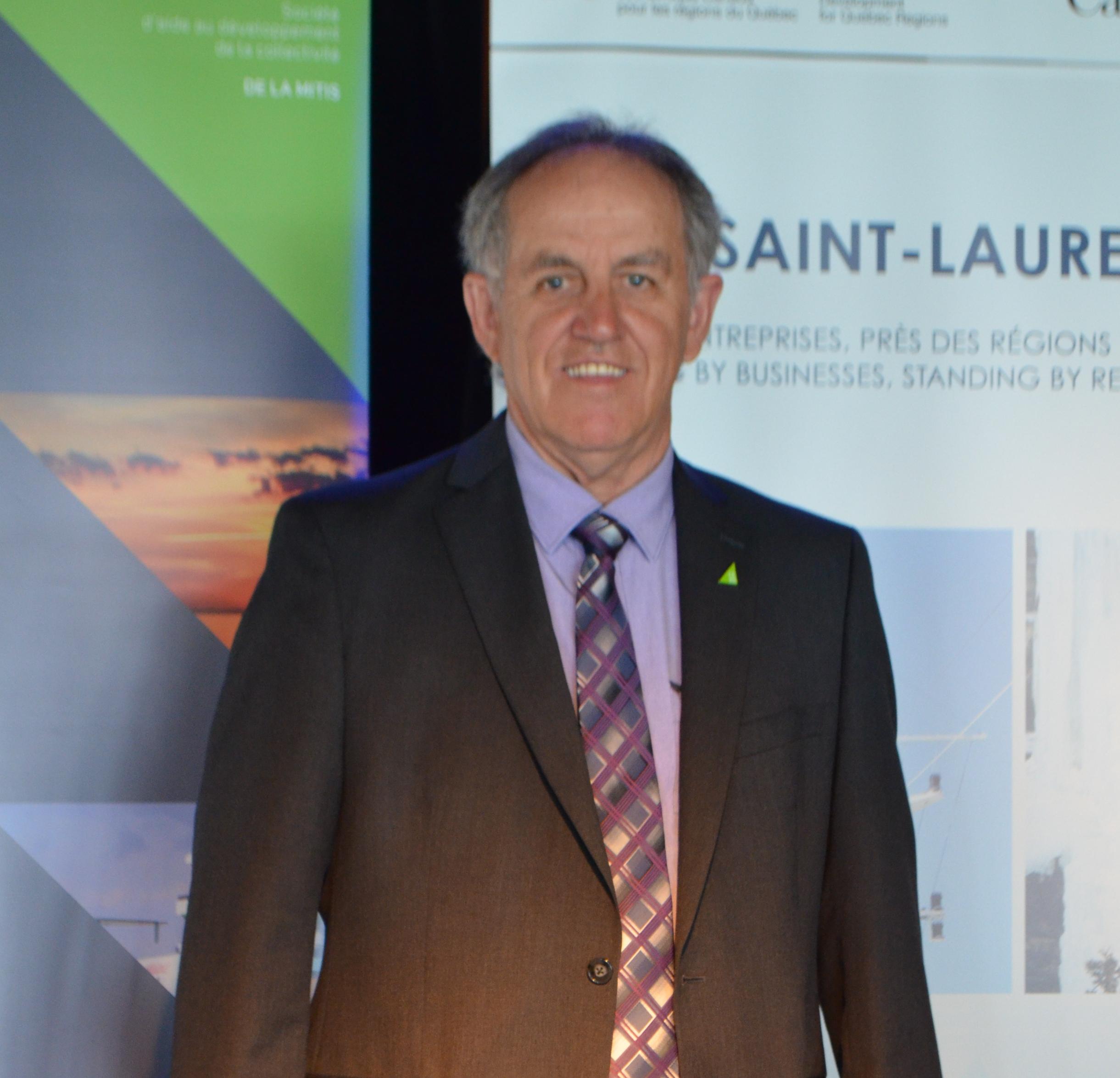 Fernand St-Laurent président de la SADC de La Mitis.