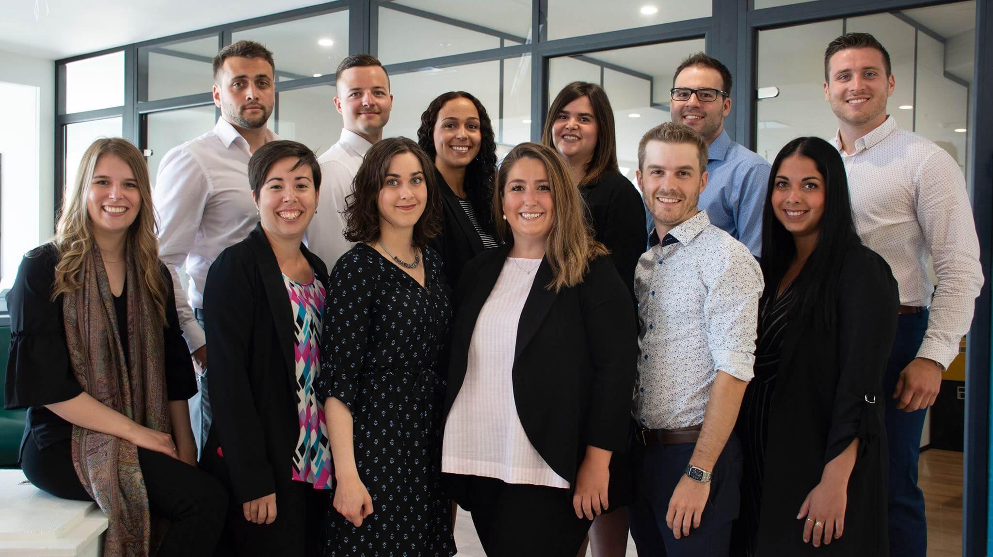Le conseil d'administration 2019 de la Jeune Chambre de Rimouski.