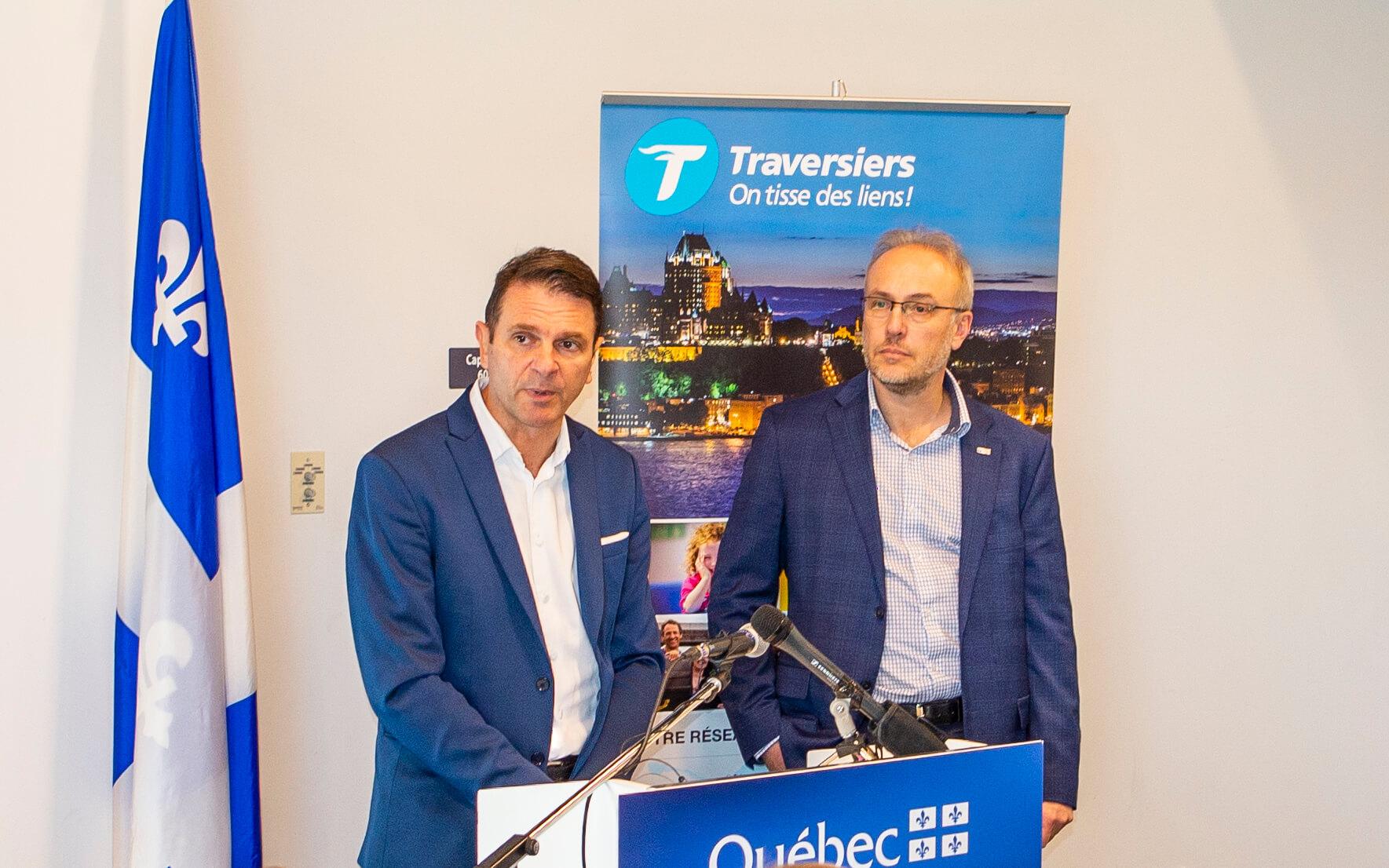 François Bonnardel ministre des Transports du Québec Stéphane Lafaut PDG par intérim de la STQ