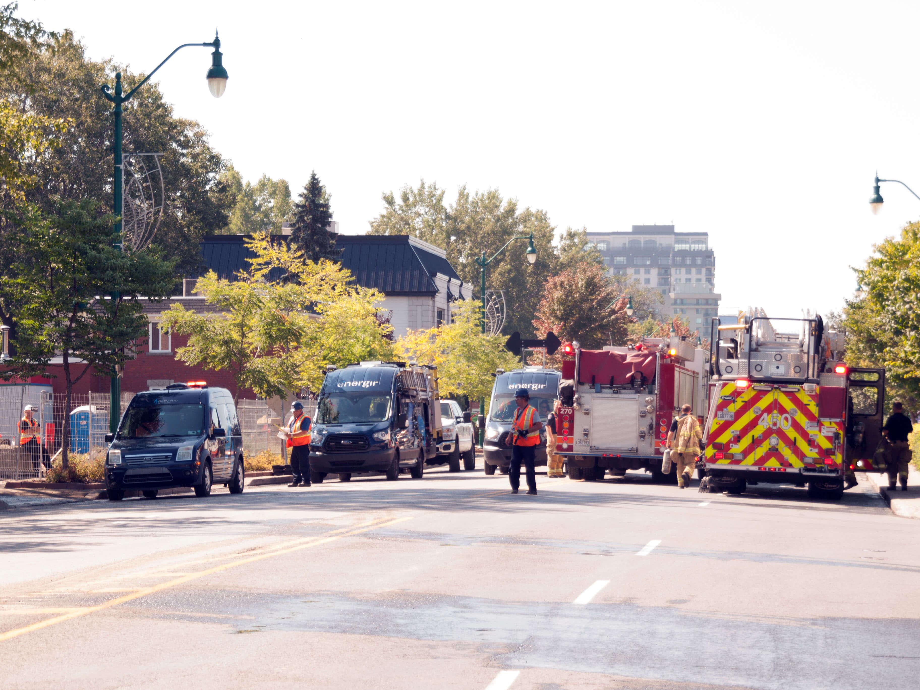 évacuation fuite de gaz repentigny