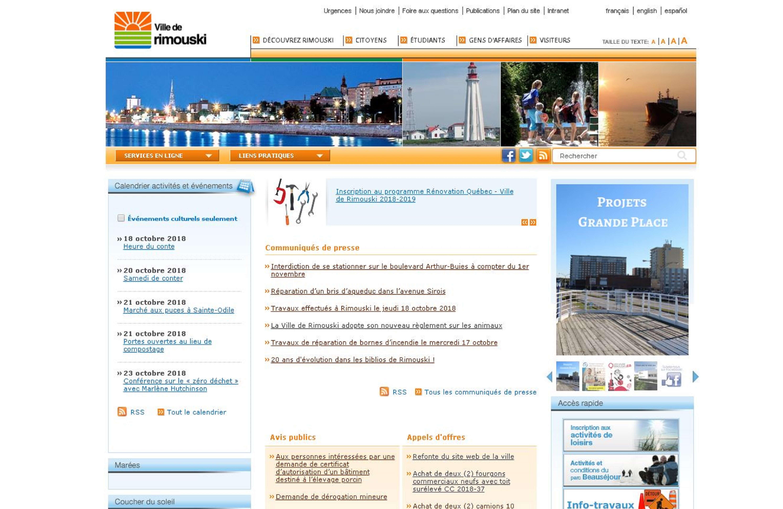 Site Web de la Ville de Rimouski