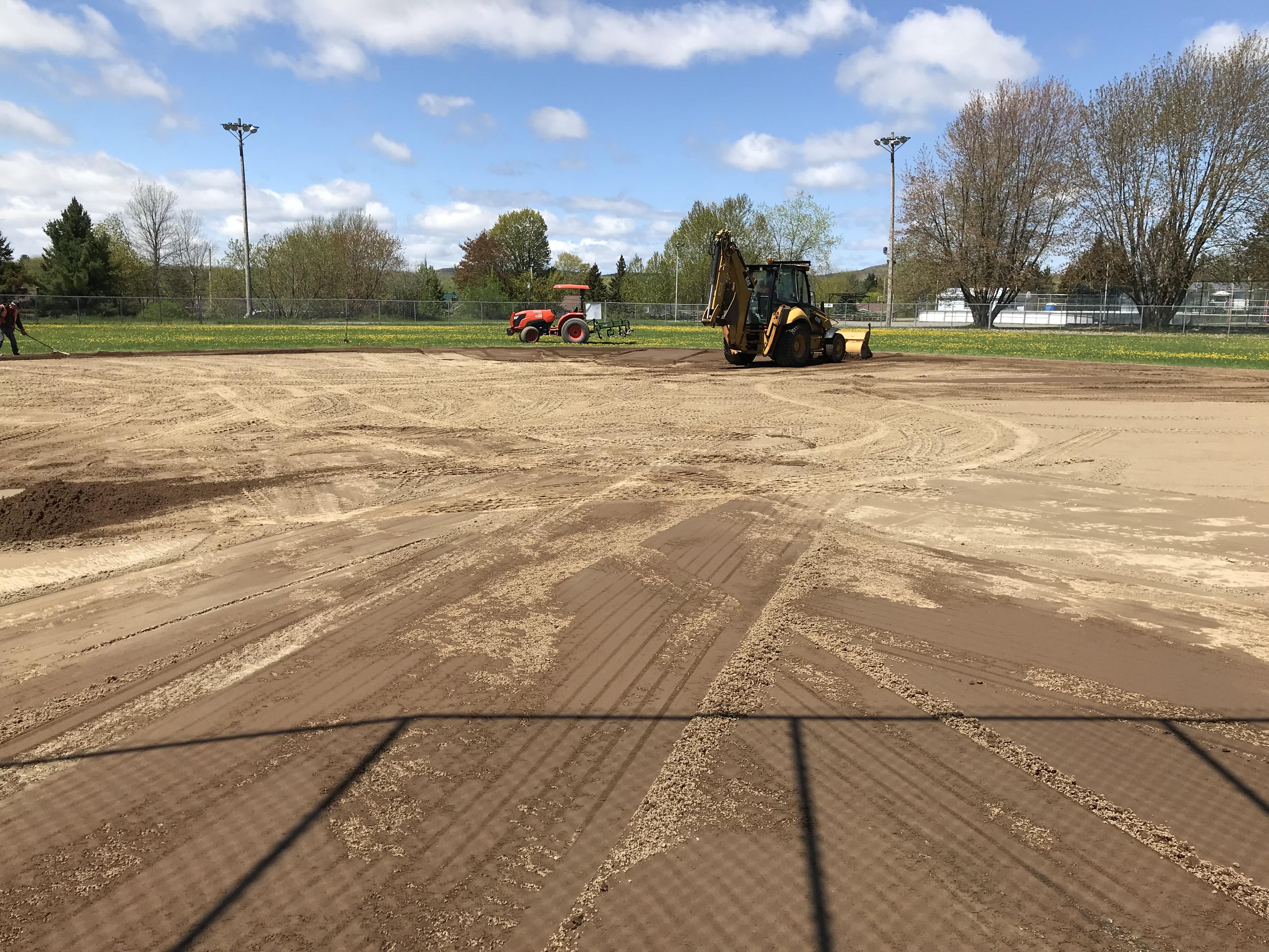 terrain de baseball machinerie
