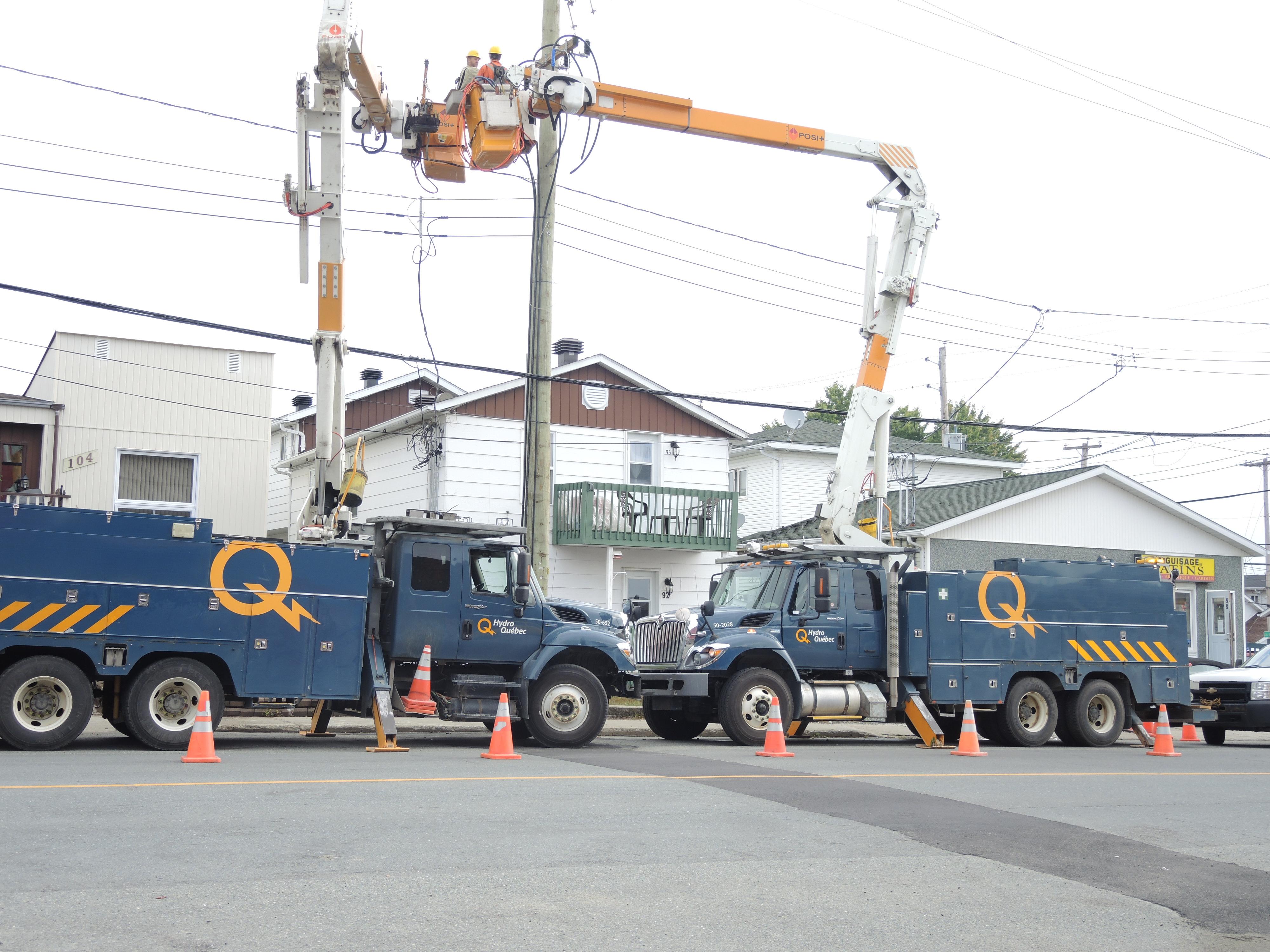 Hydro-Québec réparation travaux