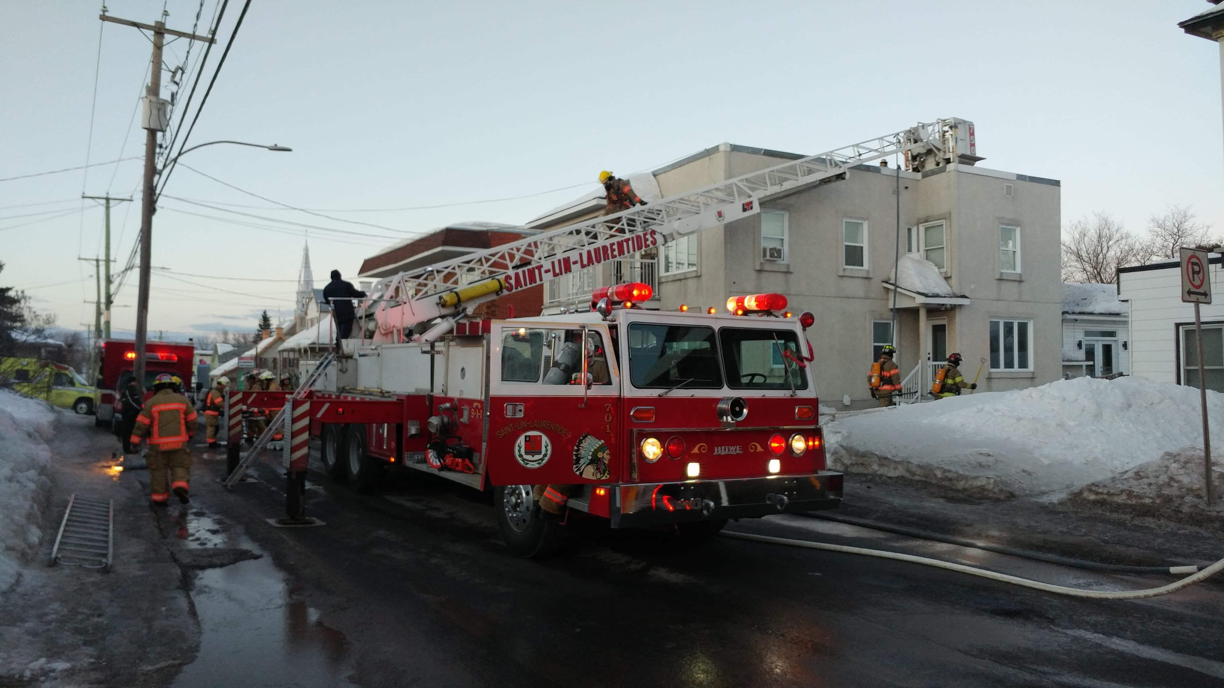 Incendie à Saint-Lin-Laurentides