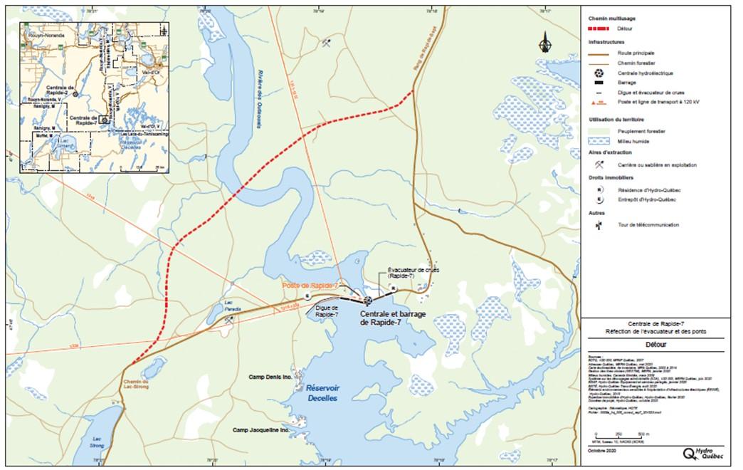 Carte secteur Rapide-7 Rouyn-Noranda Abitibi-Témiscamingue