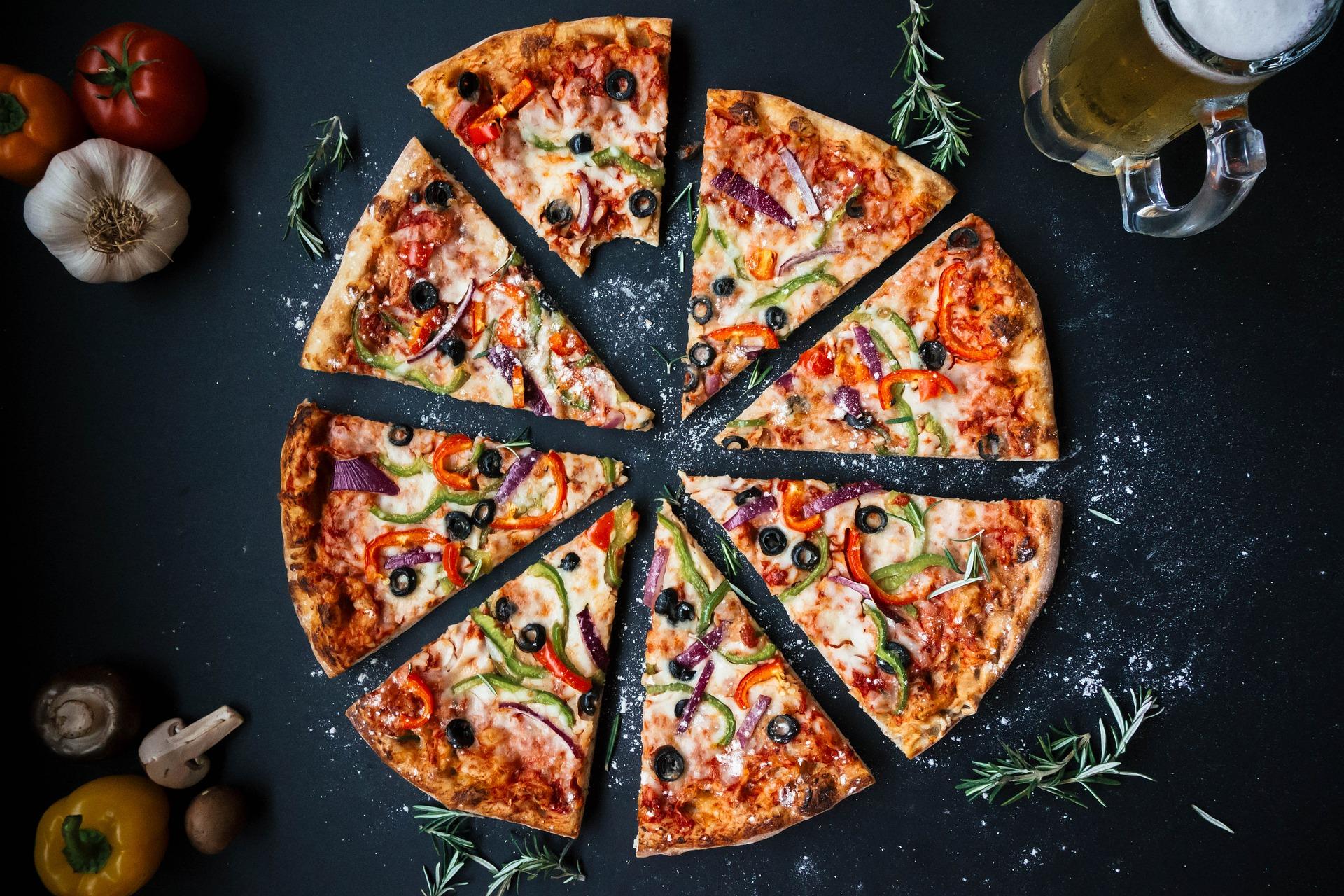 Pizza four à bois