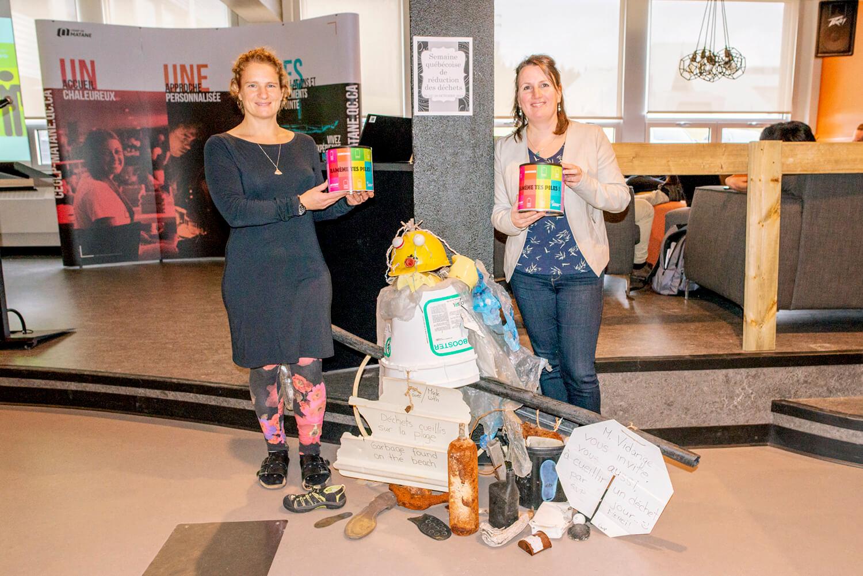 Margaret Kraenzel Nathalie Girard enseignantes Cégep de Matane campagne réduction déchets CACE