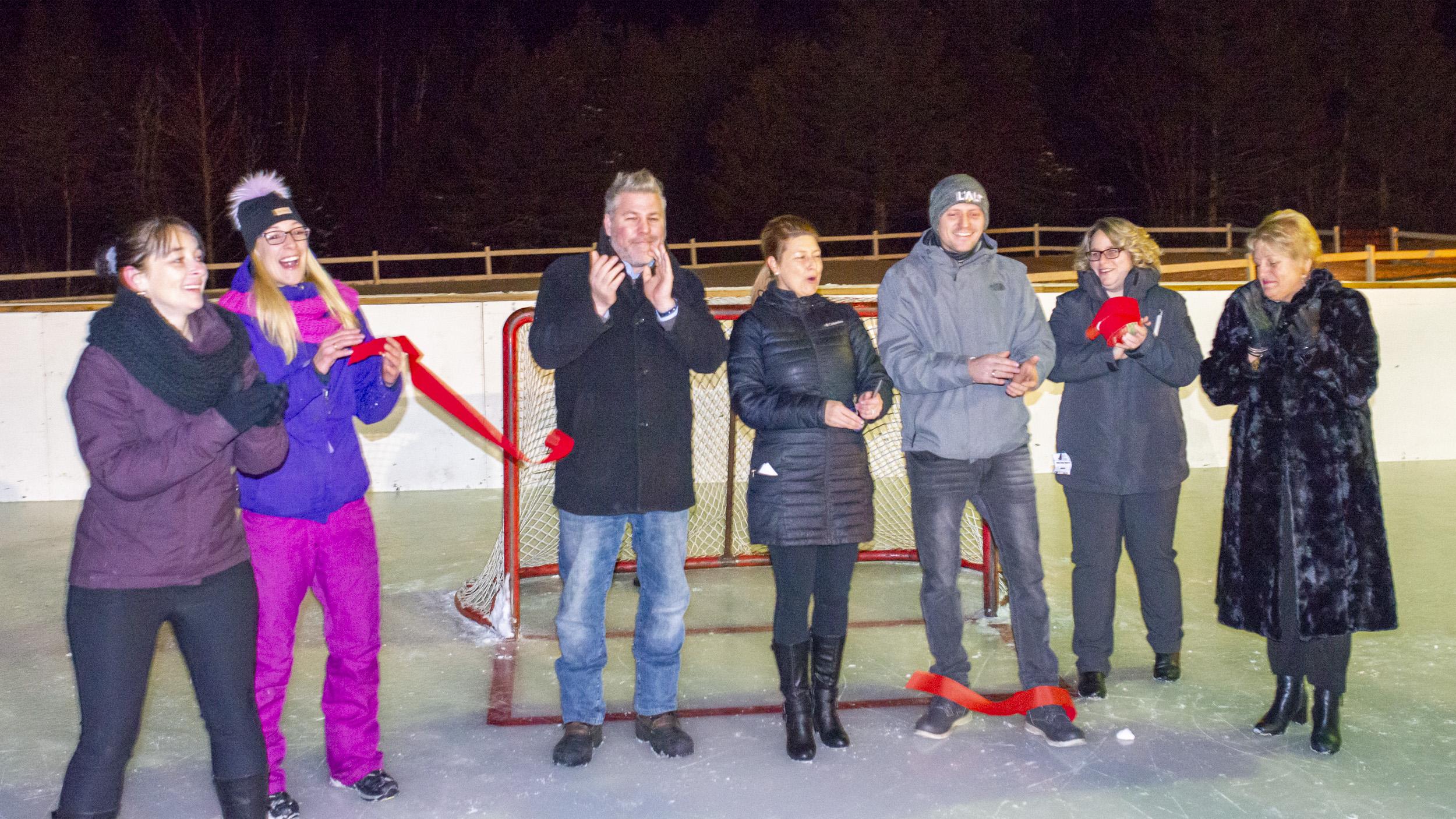 Inauguration patinoire Sainte-Félicité