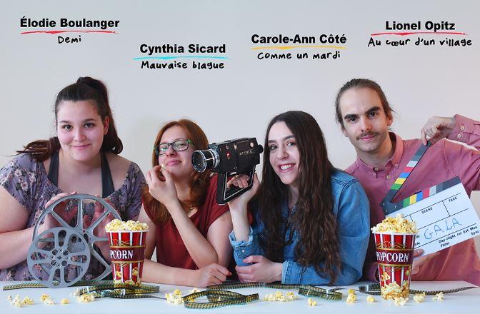 les élèves de l'option Cinéma et médias du Cégep de Rimouski