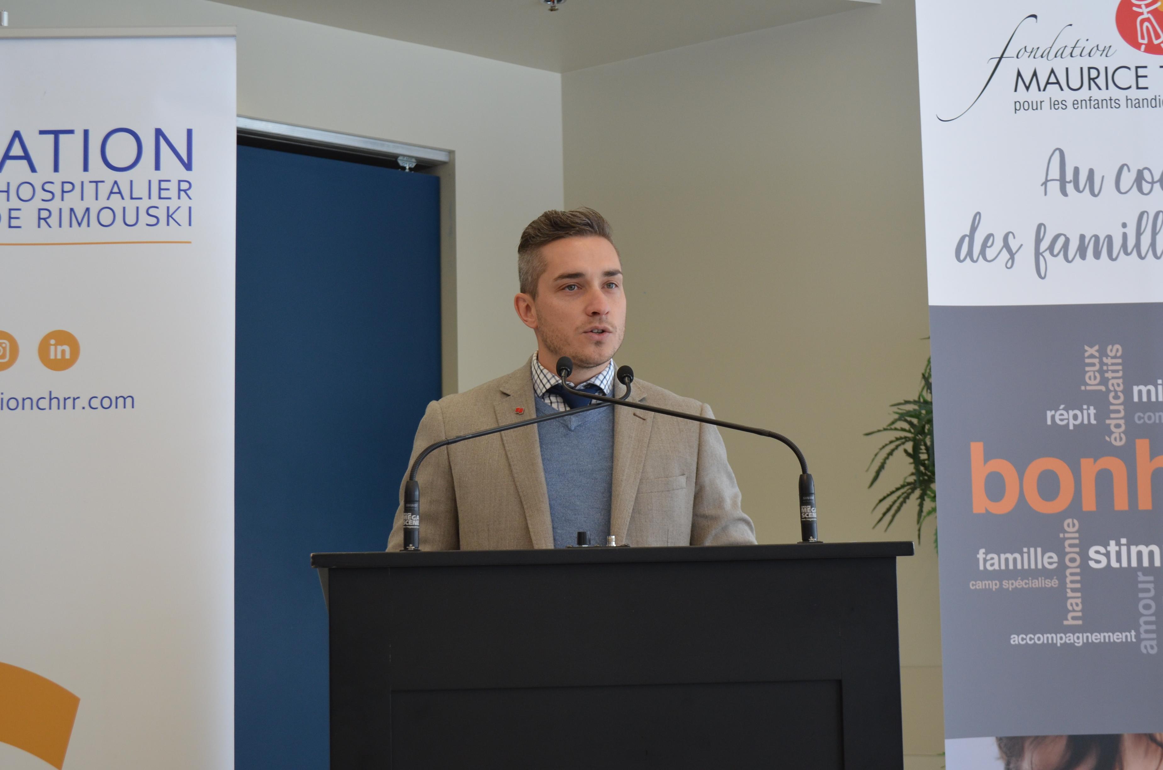 Pierre-Luc Harrison, président du conseil d'administration de la Fondation du CHRR.