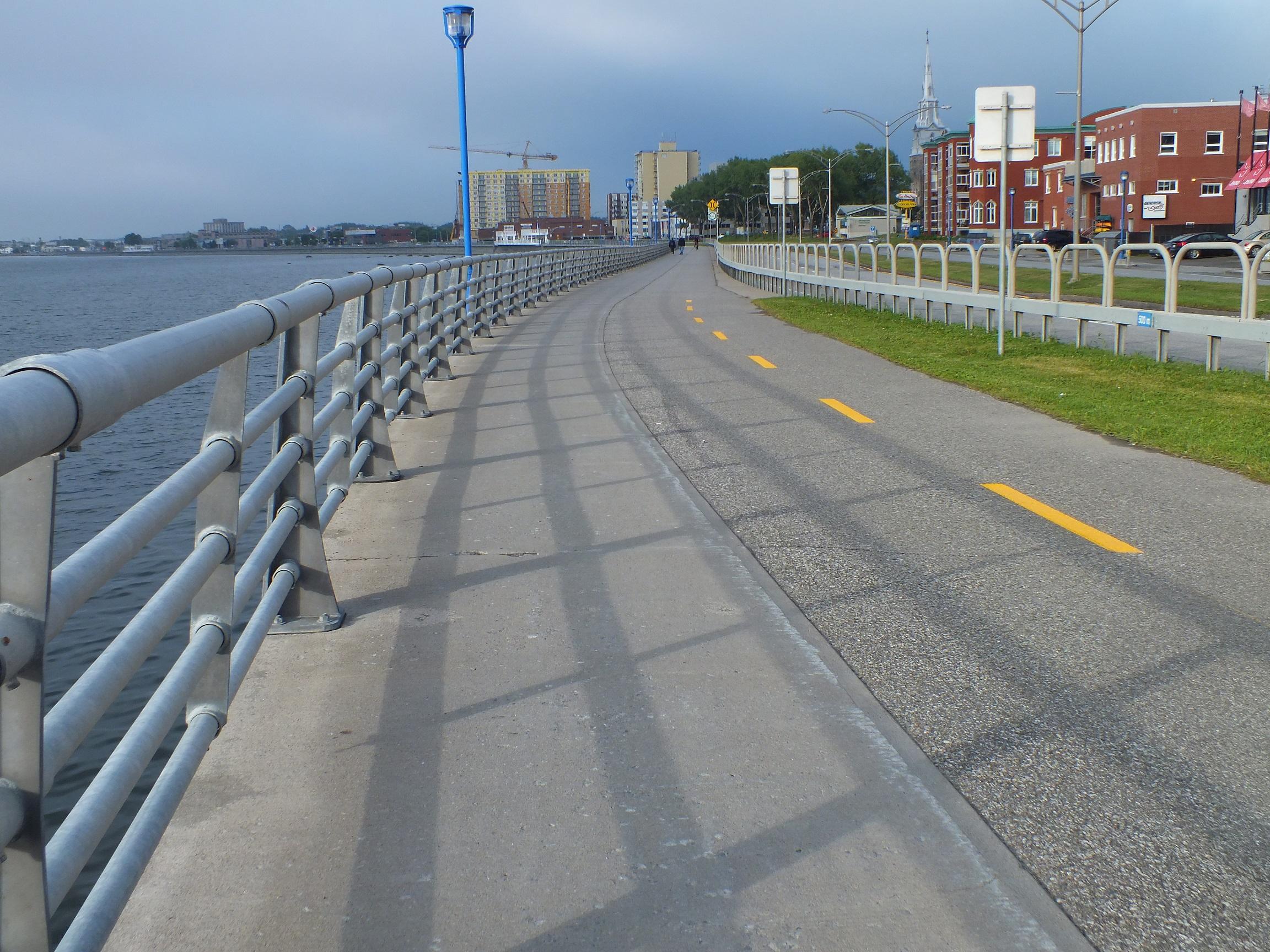 La promenade de la mer à Rimouski.