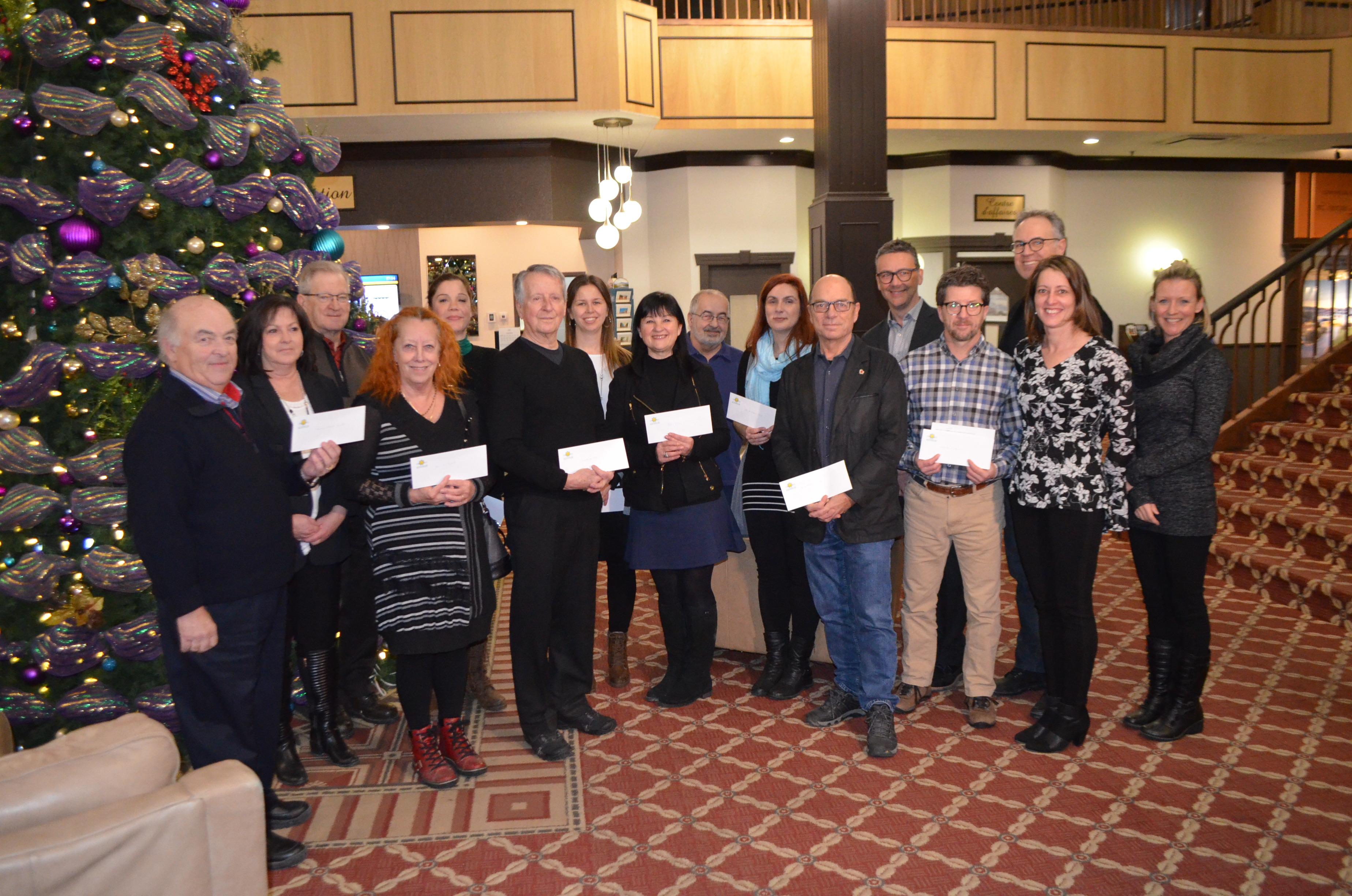 La remise annuelle de la Fondation des médias en présence des organismes bénéficiaires et des membres de la Fondation avait lieu le 10 décembre, à l'Hôtel Rimouski.