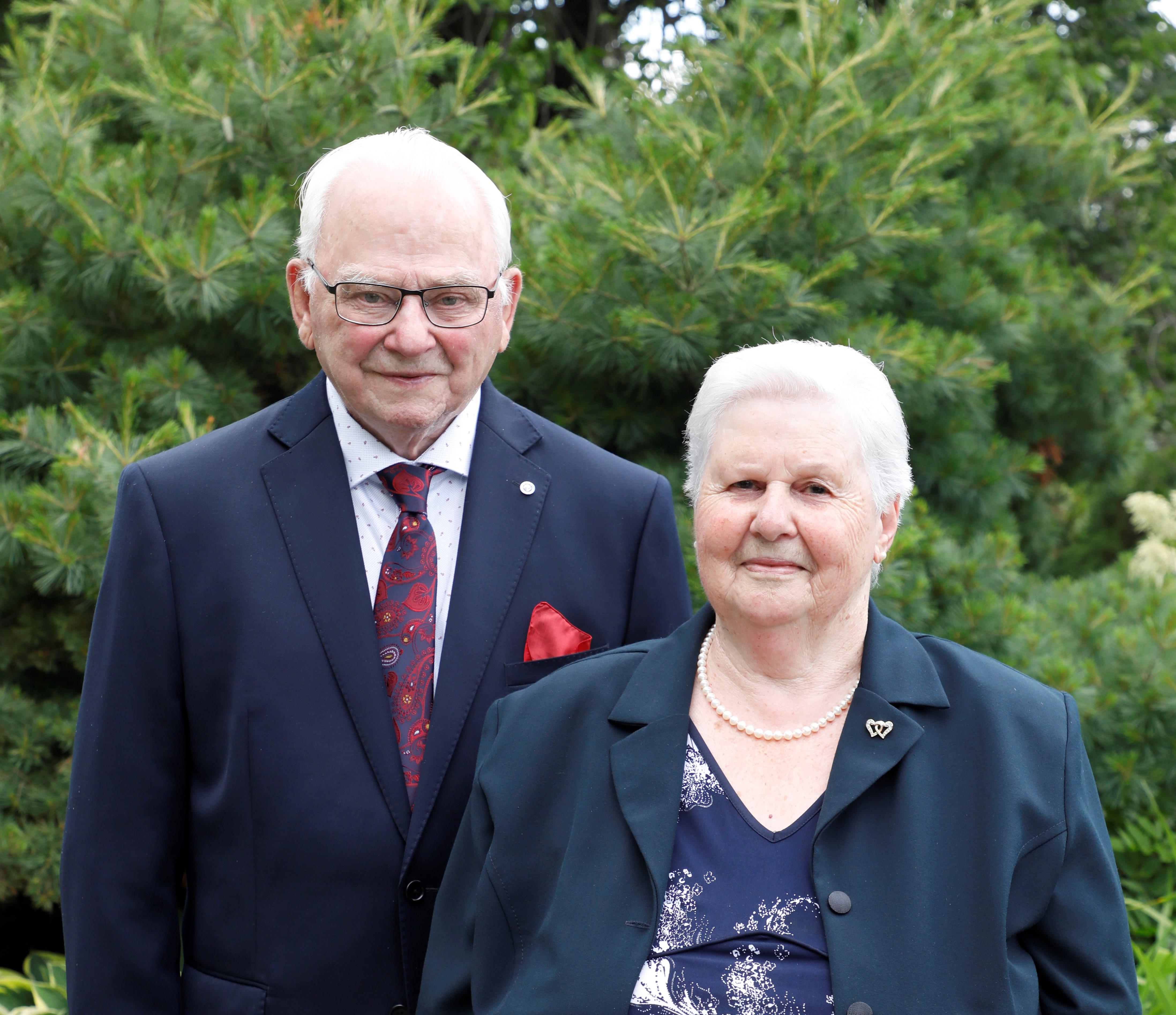 Maurice Desrosiers et Georgianne Lévesque se sont mariés le 14 juillet 1955.