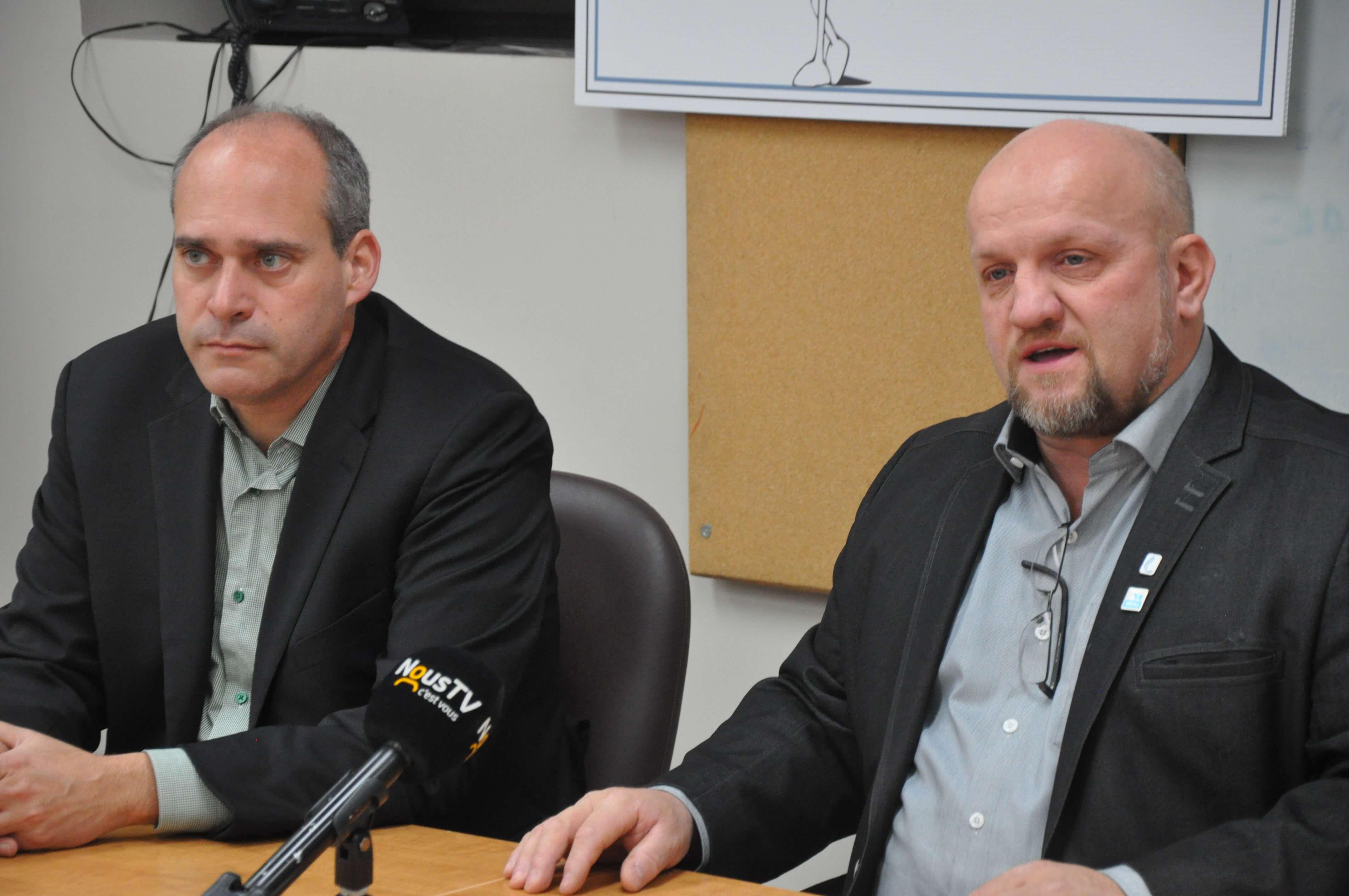 Guy Caron et Gabriel Belzile