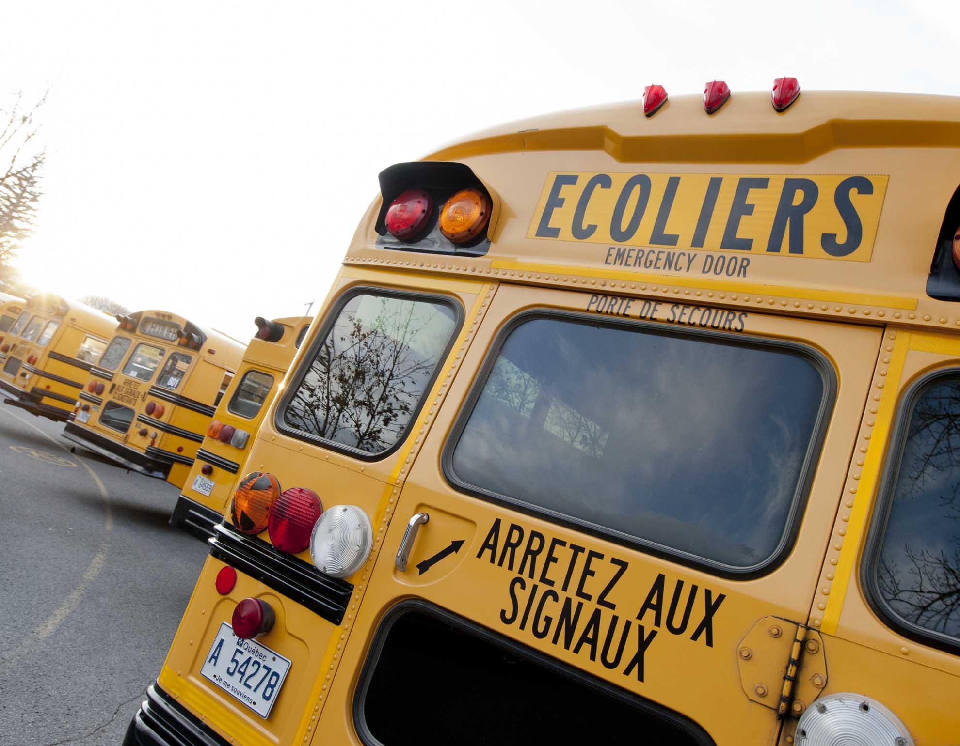Autobus scolaire.