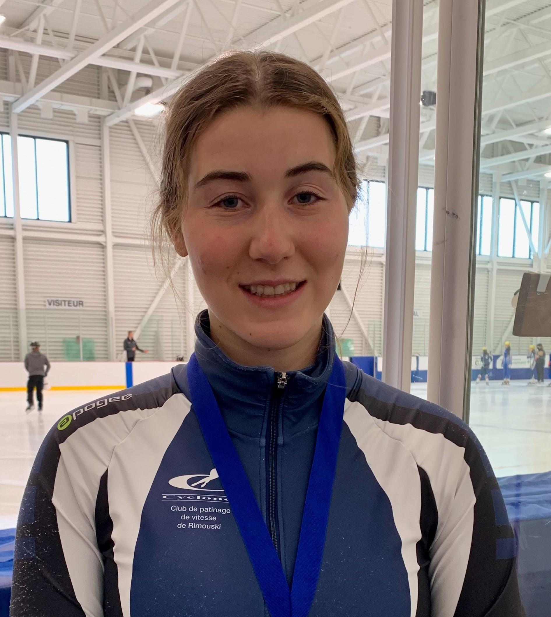 La patineuse Camille Tremblay, du club des Cyclones de Rimouski.
