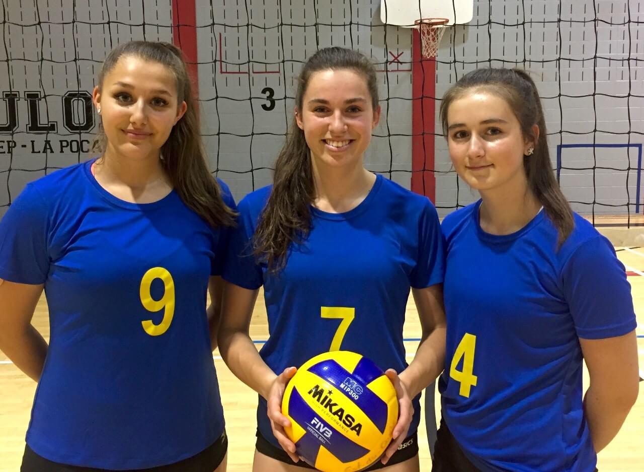 Trois volleyeuses annemontoises aux Jeux du Québec