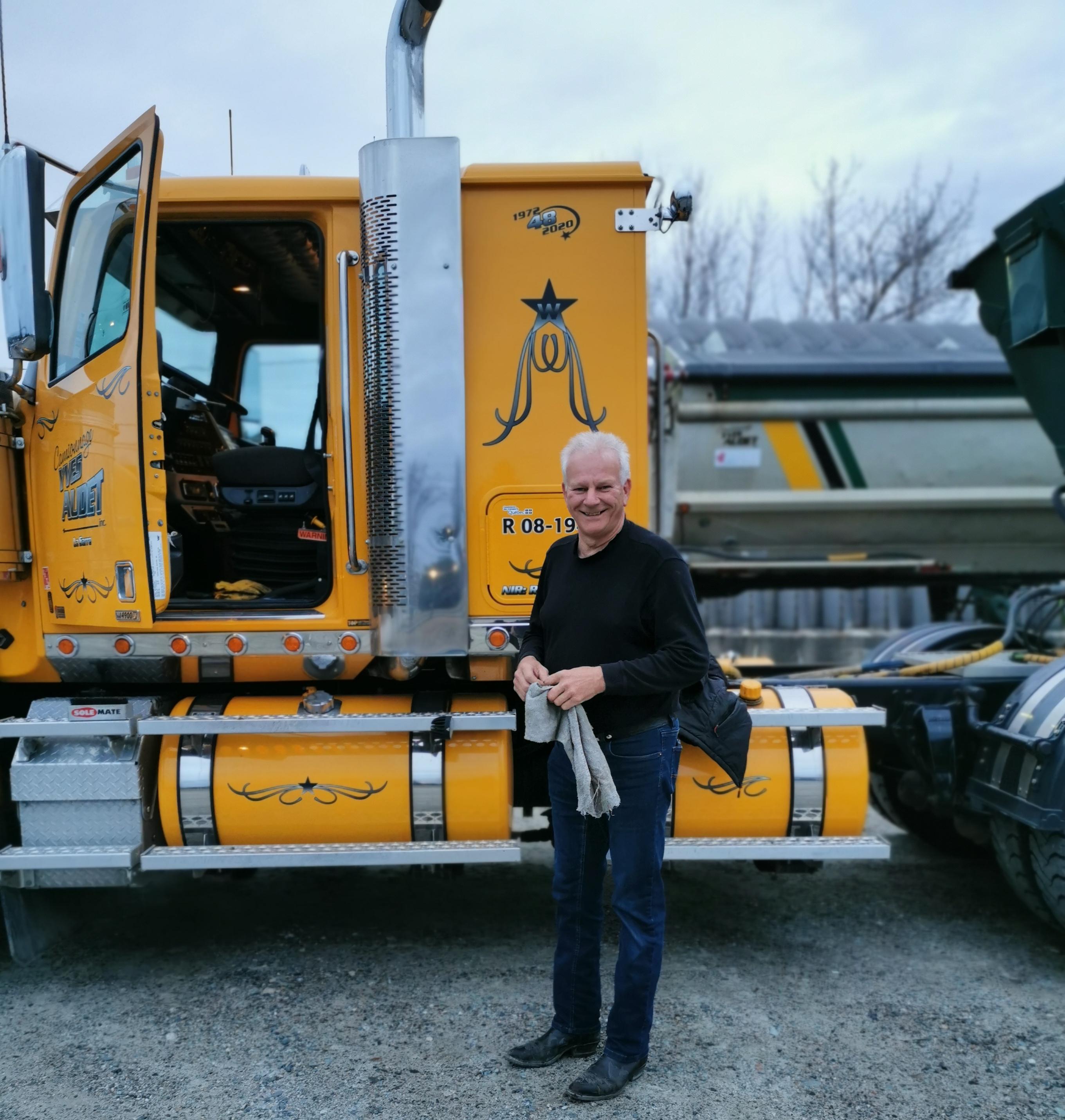 Yves Audet camionneur