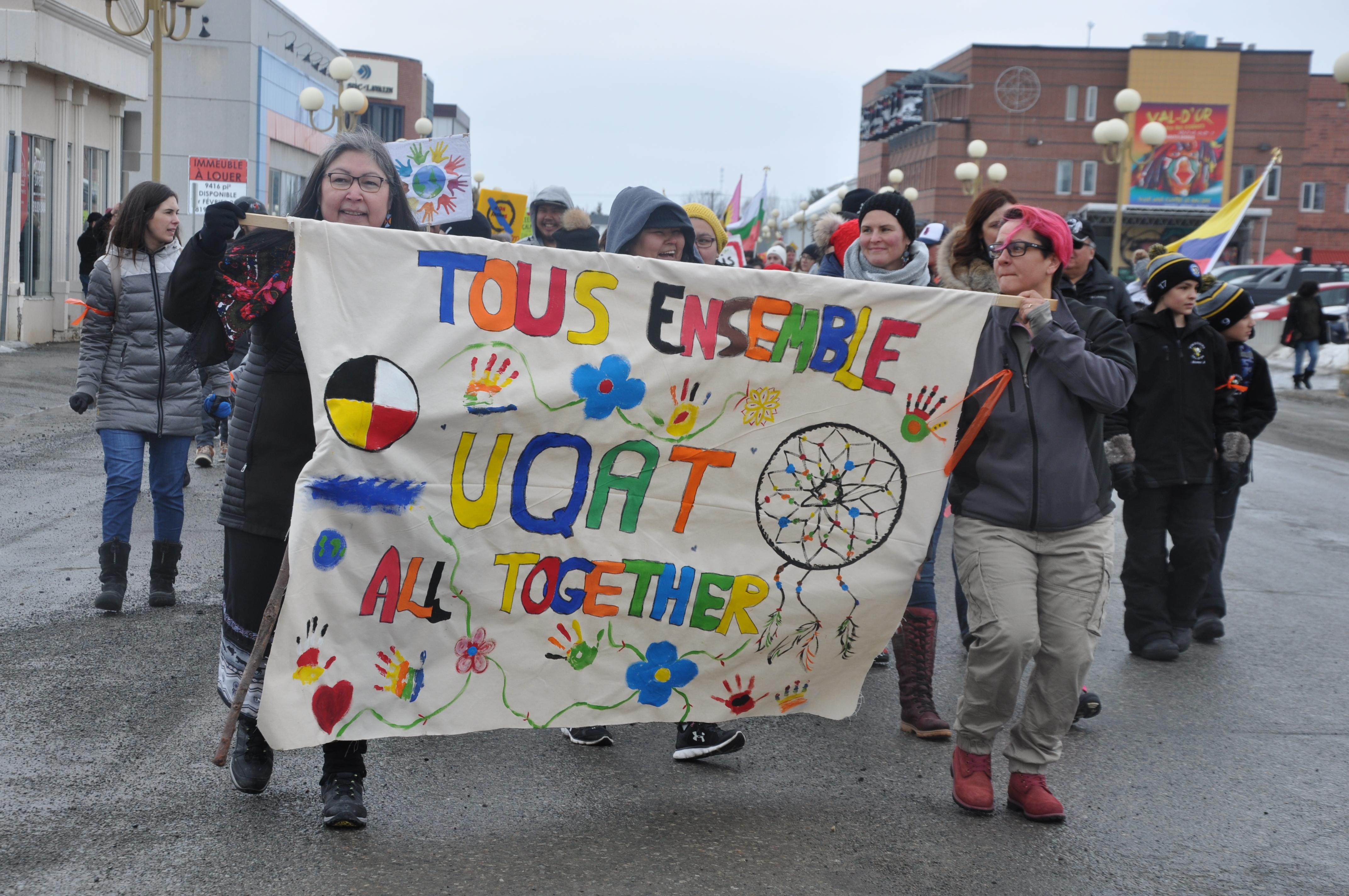 Marche Gabriel-Commanda Val-d'Or 19e 2019 racisme mobilisation prévention communauté