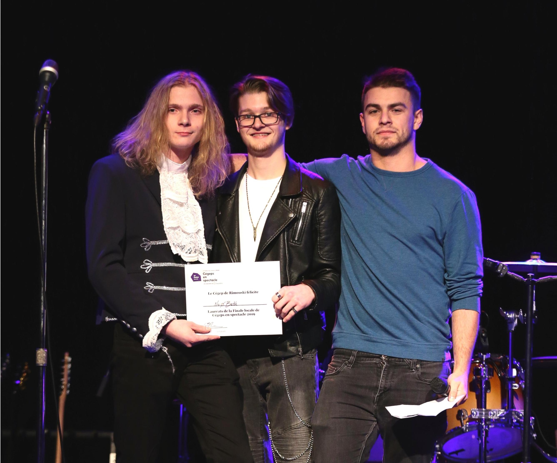 Le groupe NéoBeth, gagnant de la finale locale de Cégeps en spectacle à Rimouski