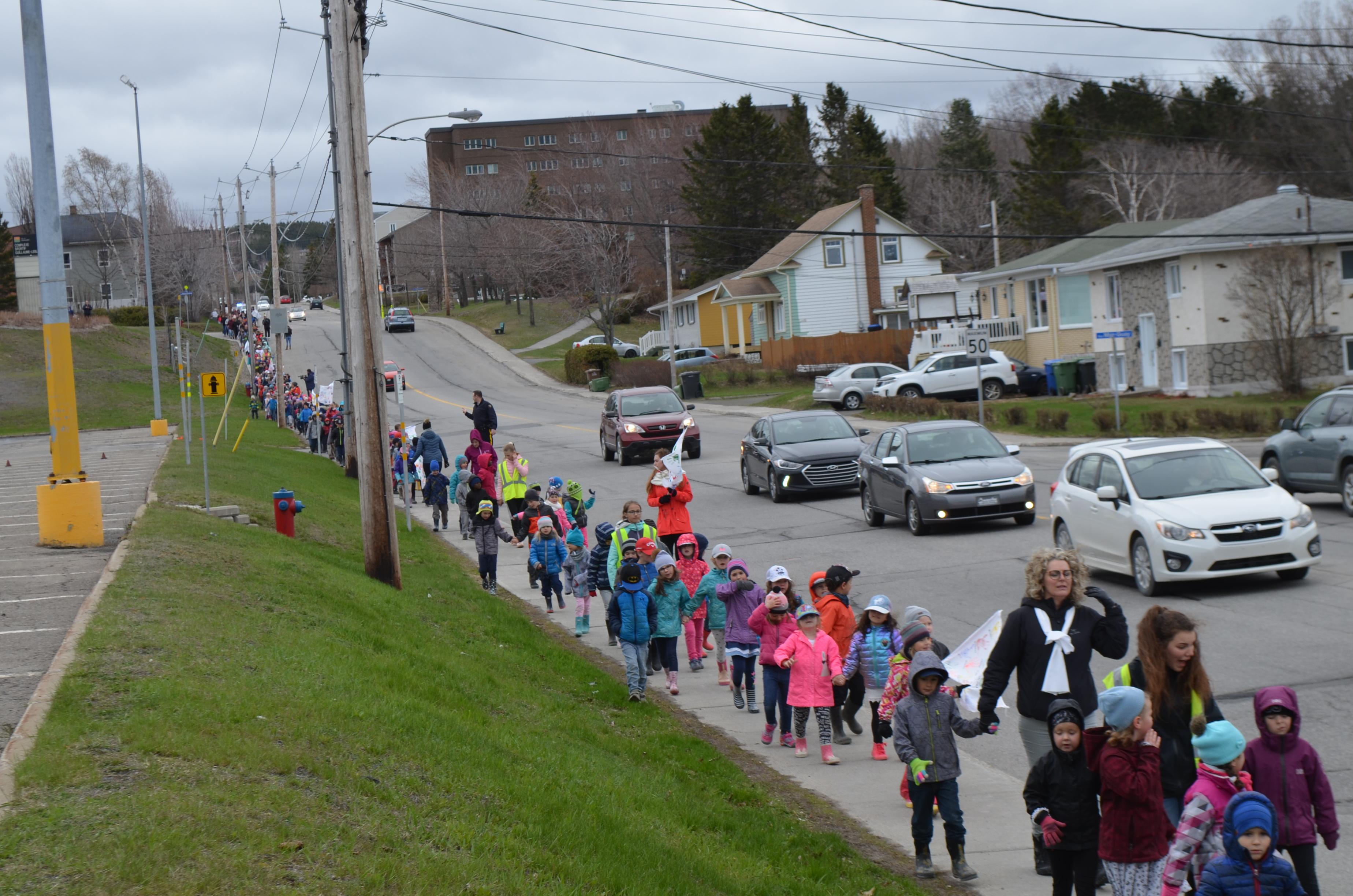 Marche pour la  paix Élisabeth-Turgeon