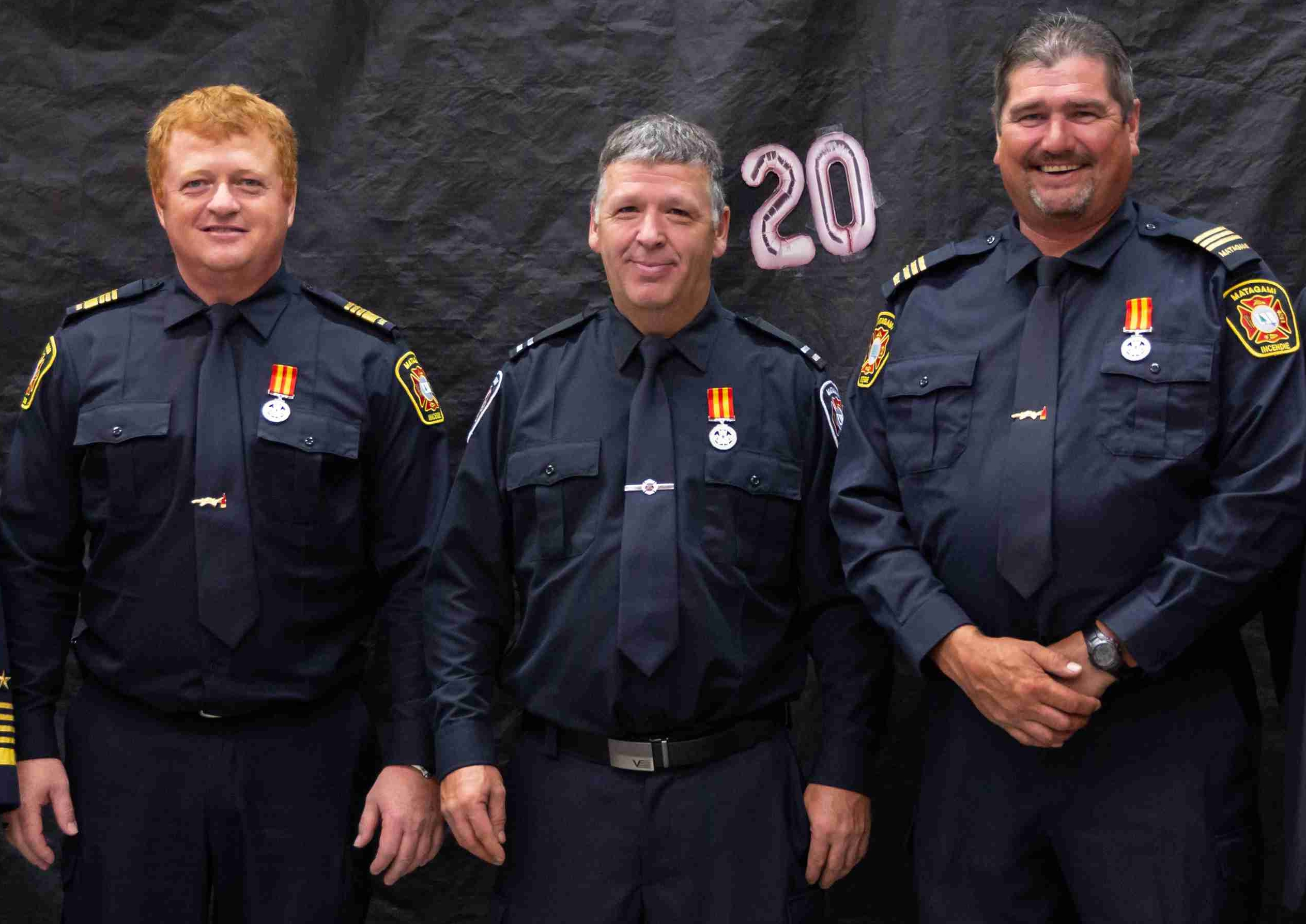 Pompiers Matagami médaille